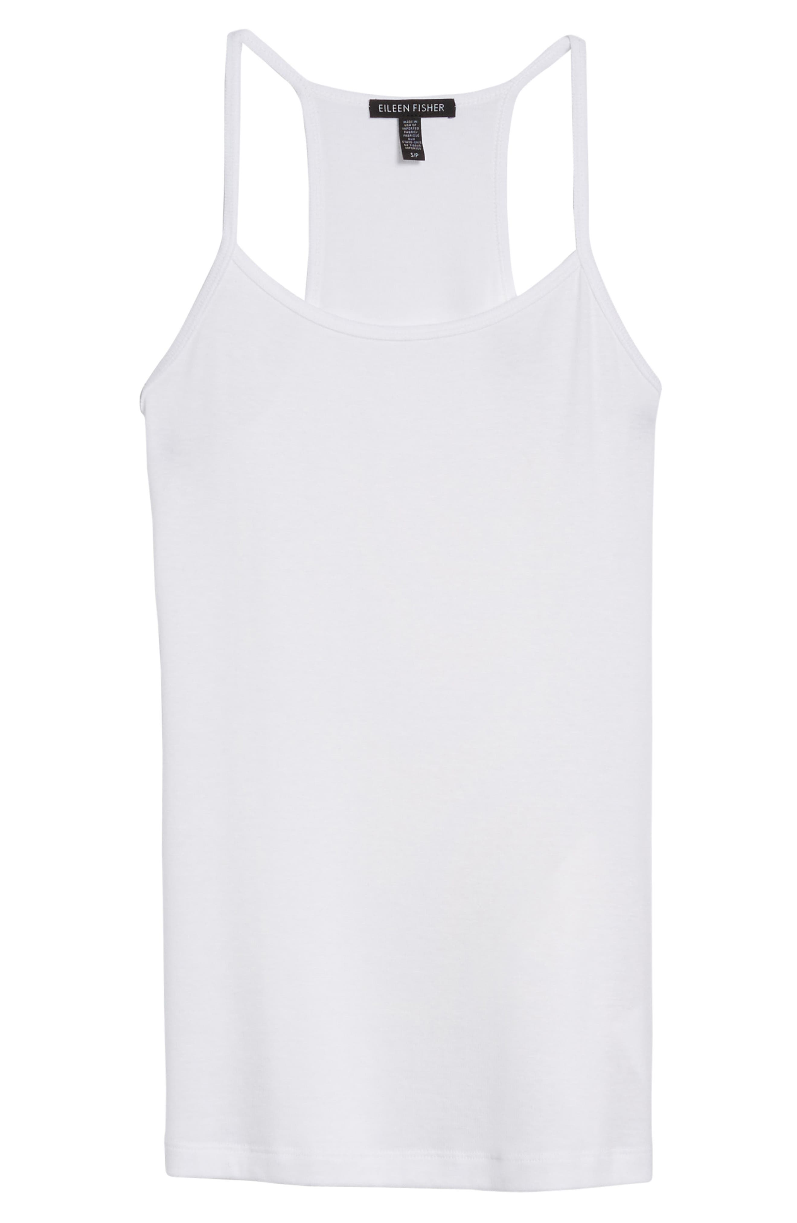 Stretch Tencel<sup>®</sup> Layering Tank,                             Alternate thumbnail 6, color,                             White