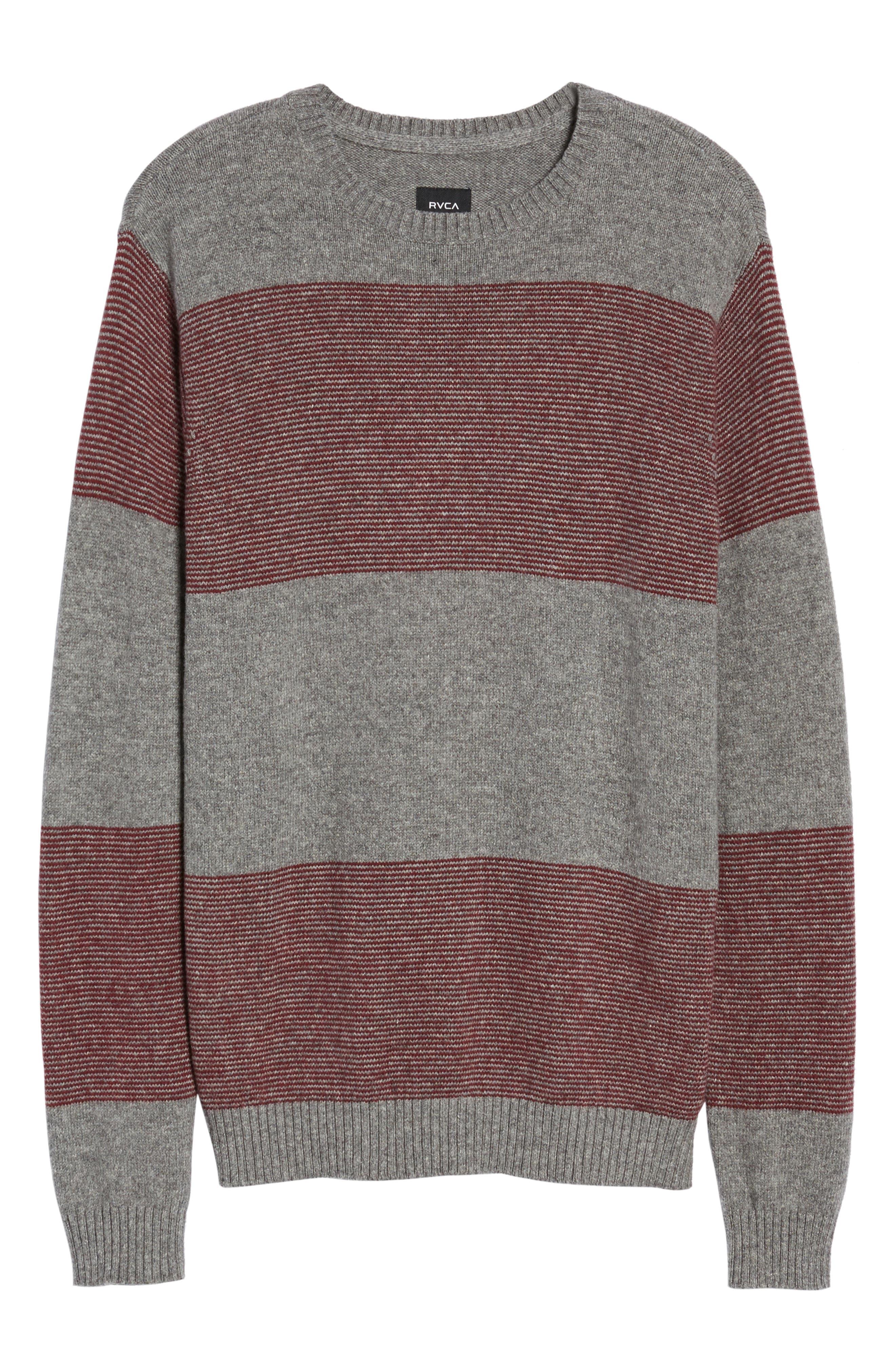 Alternate Image 5  - RVCA Channels Crewneck Sweater