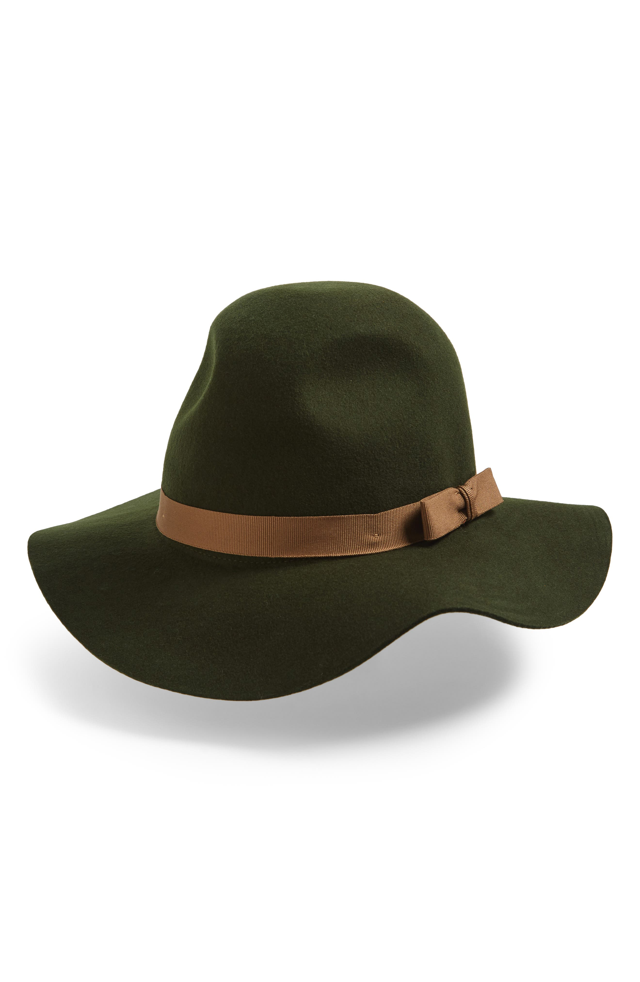 'Dalila' Floppy Felt Hat,                         Main,                         color, Moss/ Bronze