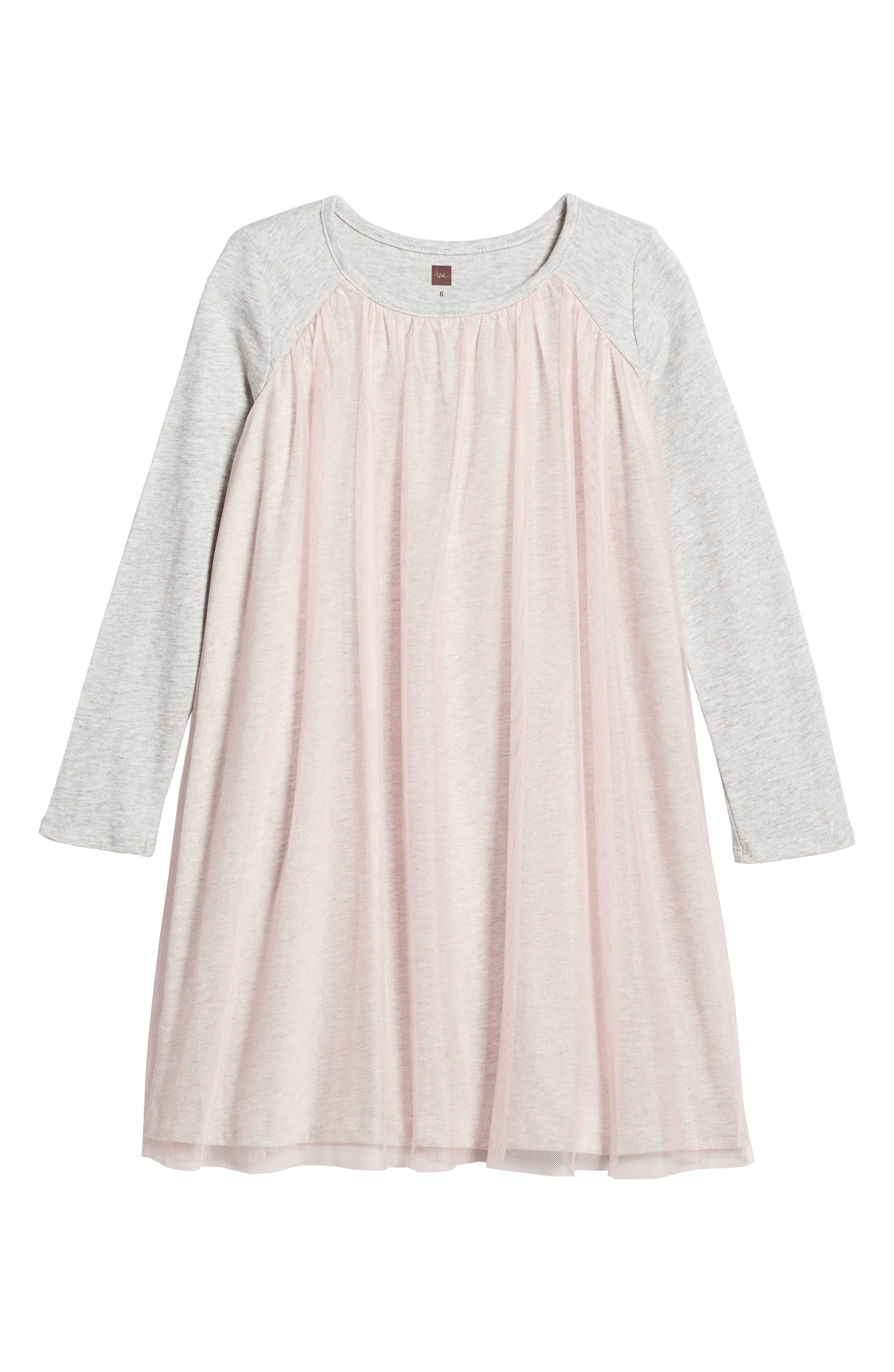 Mackenzie Tulle Dress,                             Main thumbnail 1, color,                             Soft Peach
