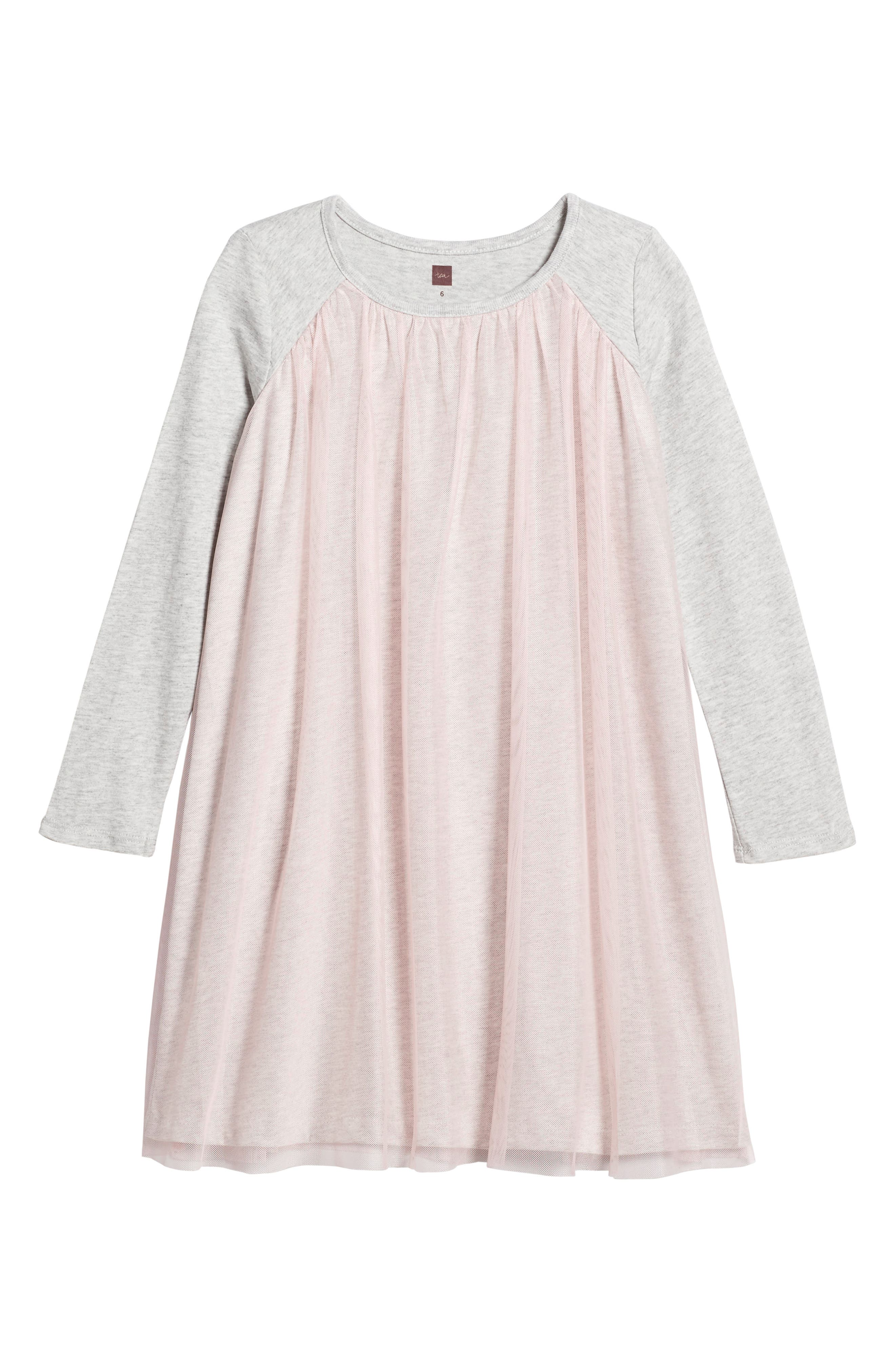 Mackenzie Tulle Dress,                         Main,                         color, Soft Peach