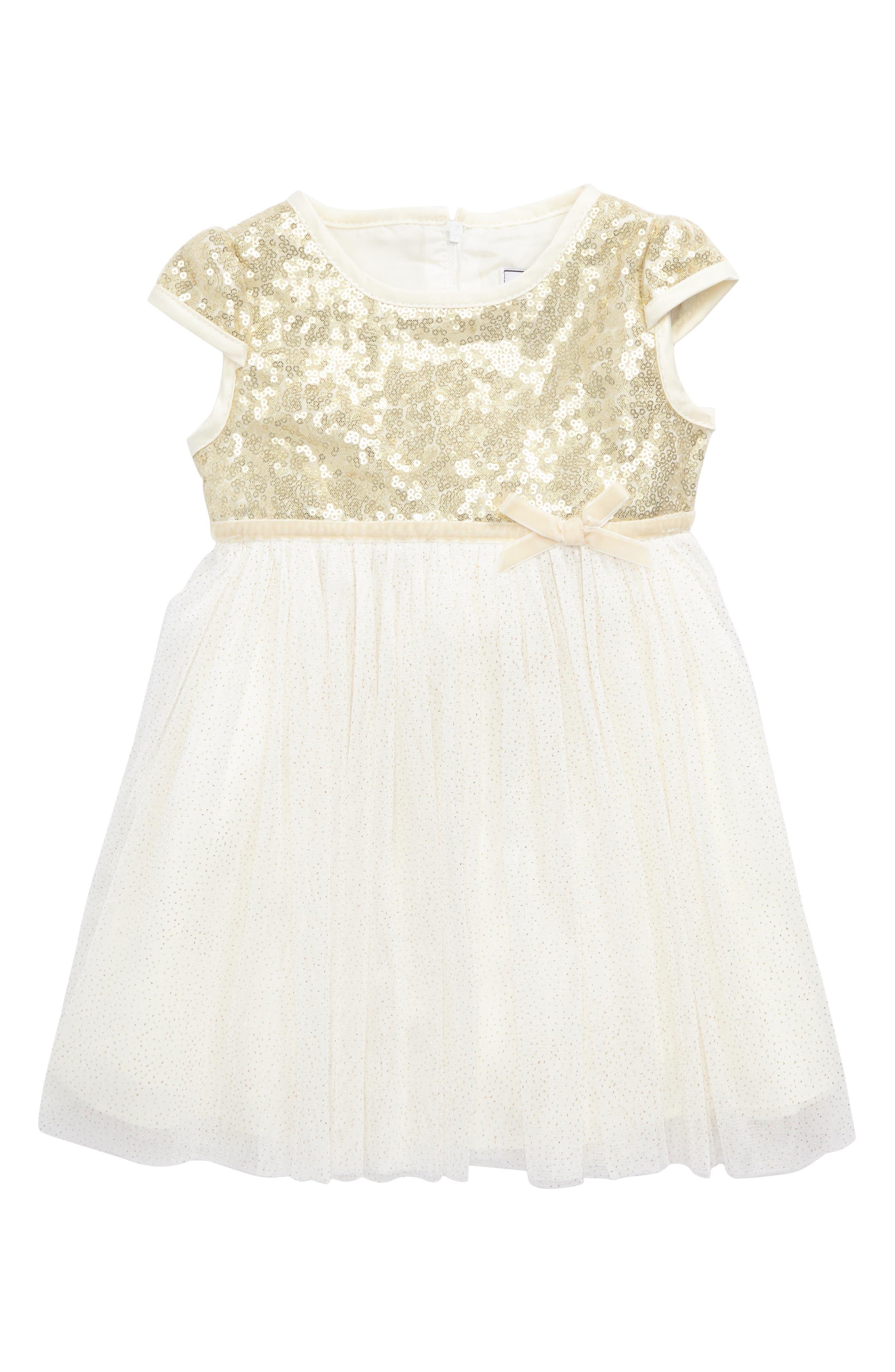 Dorissa Sequin & Lace Dress (Baby Girls)