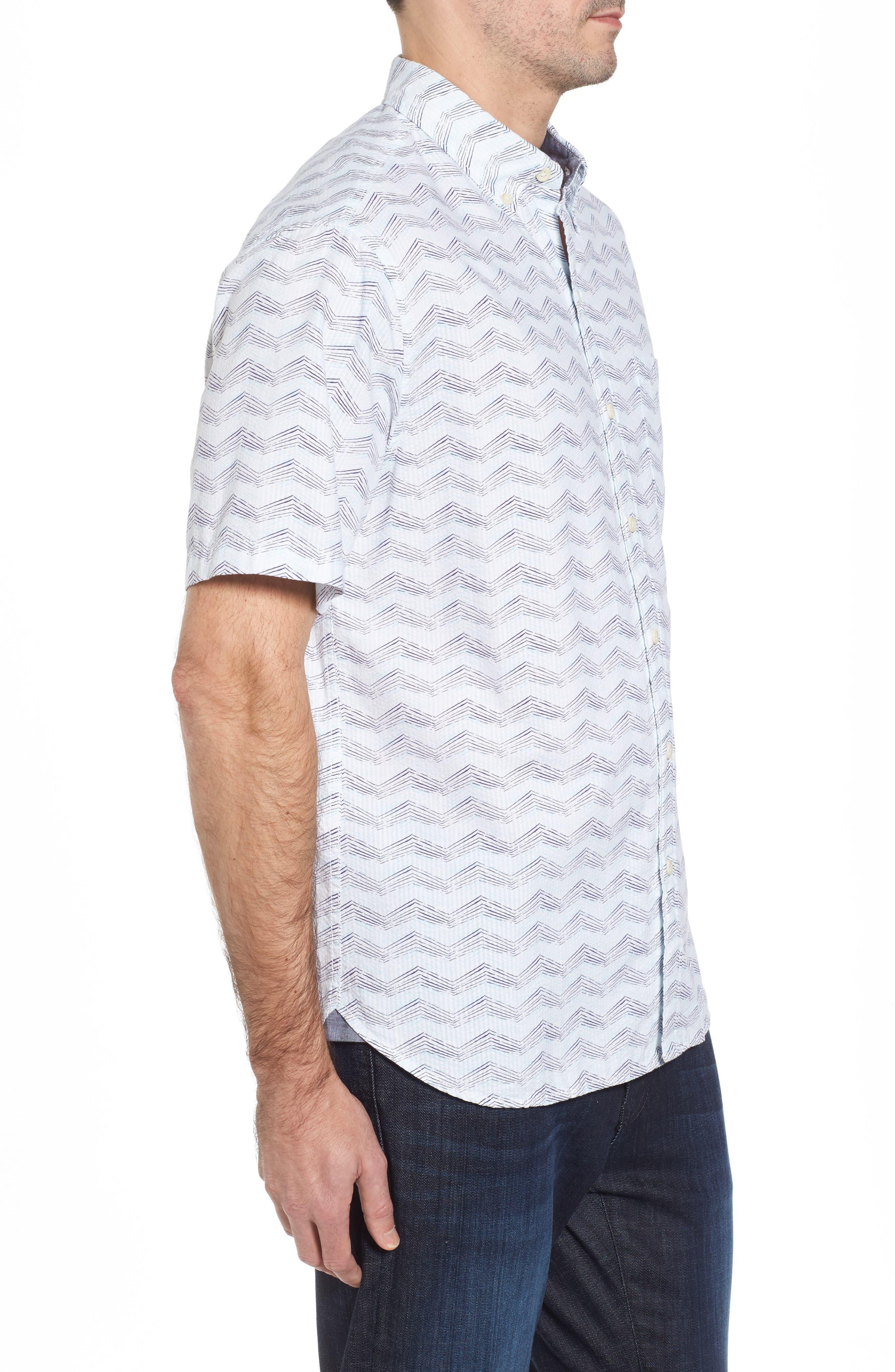 Alternate Image 3  - Tommy Bahama Chevron Shores Print Sport Shirt