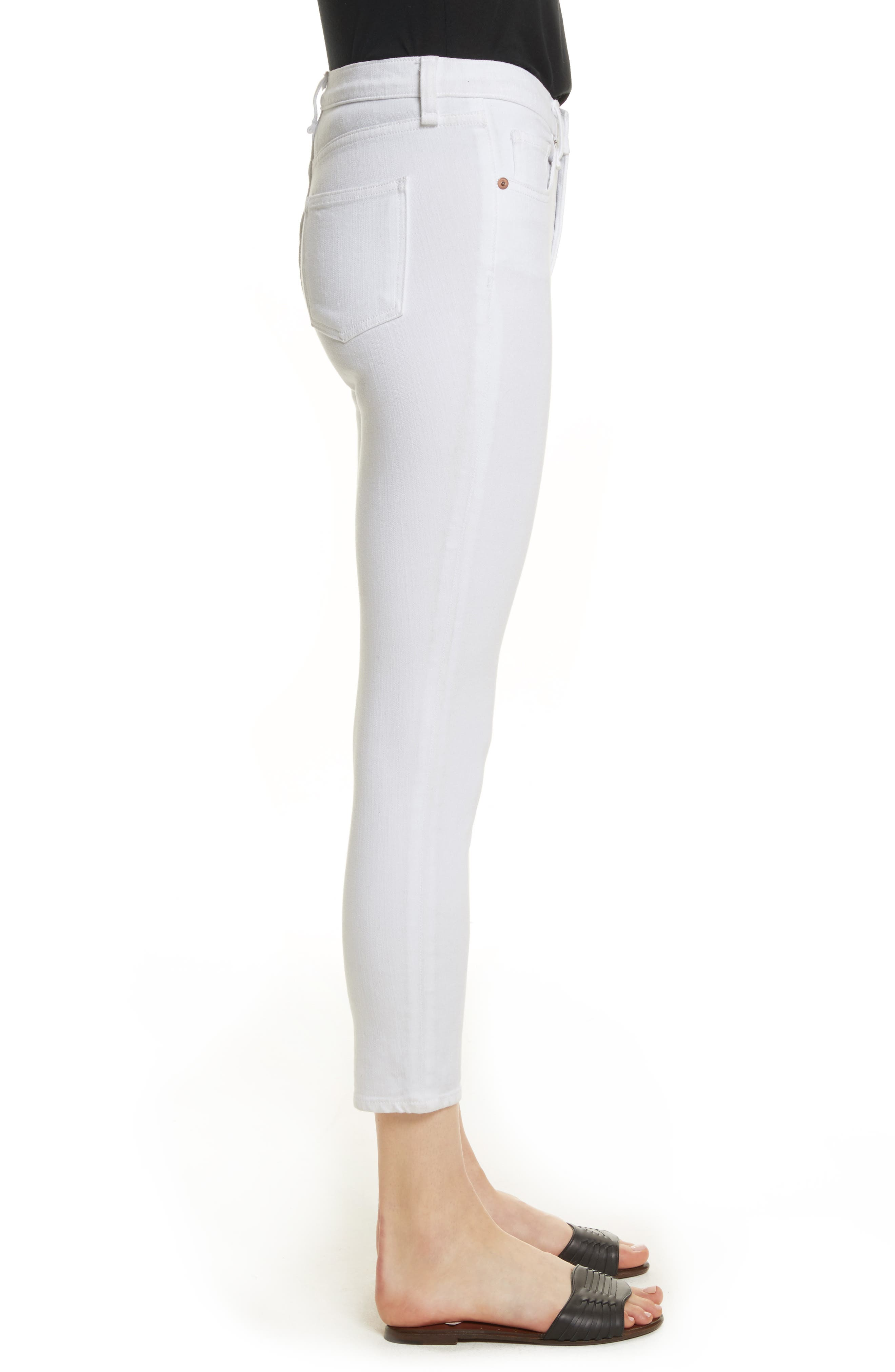 Kate Capri Jeans,                             Alternate thumbnail 3, color,                             White