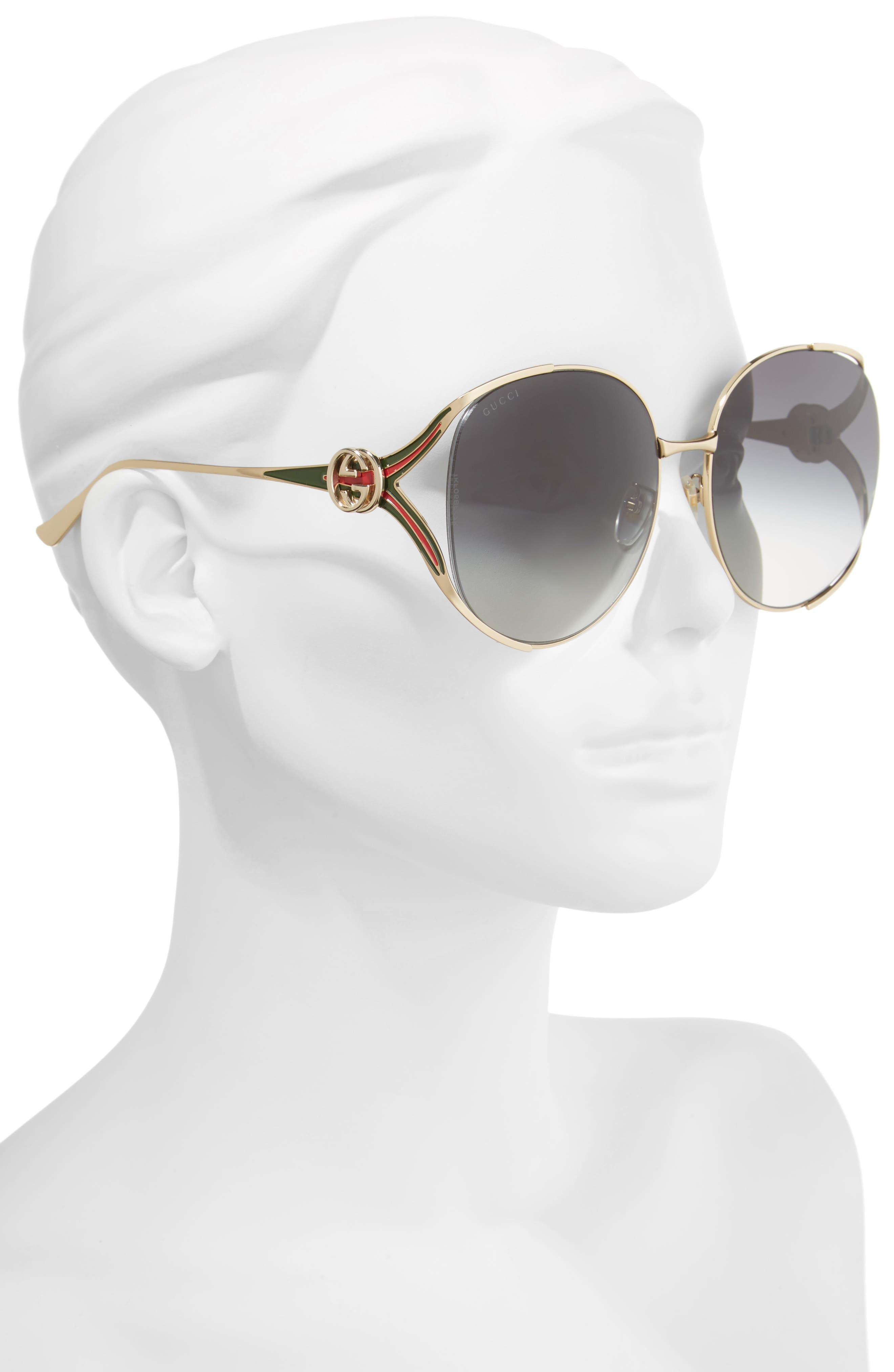 c31d671e219 Gucci Metal Aviator Sunglasses Dark Ruthenium – Southern California ...