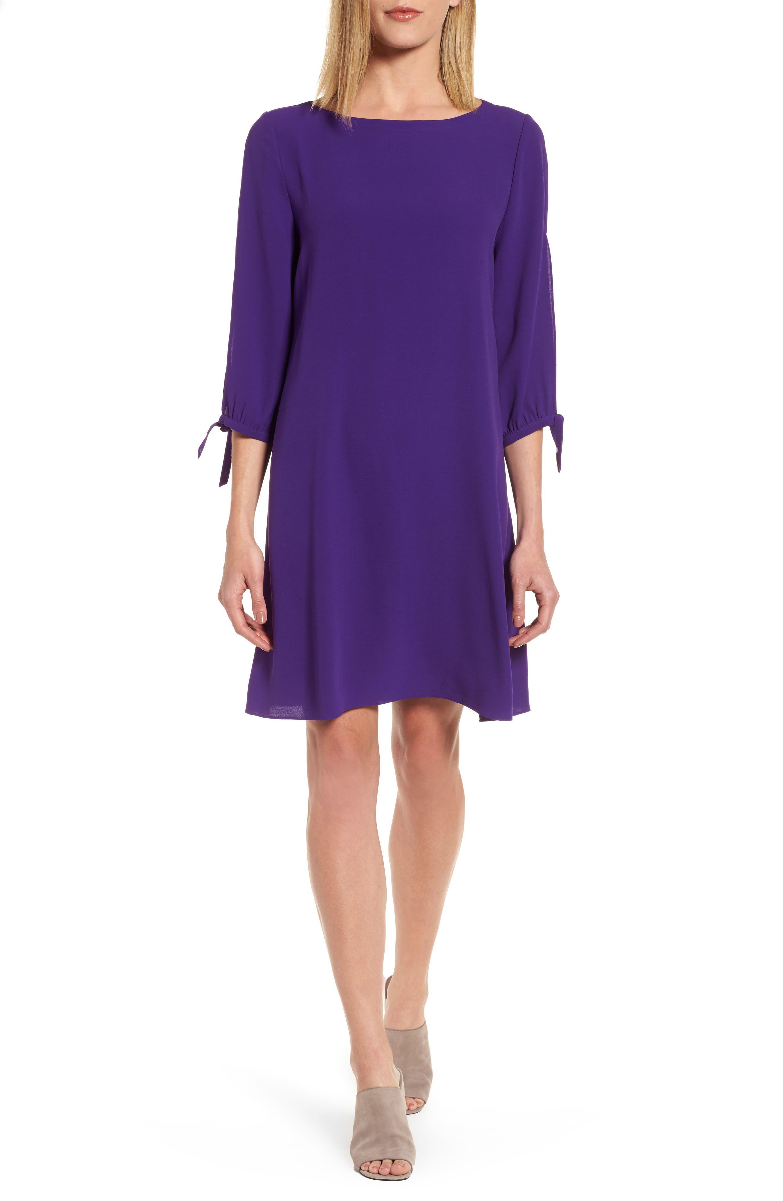 Silk Shift Dress,                             Main thumbnail 1, color,                             Ultraviolet