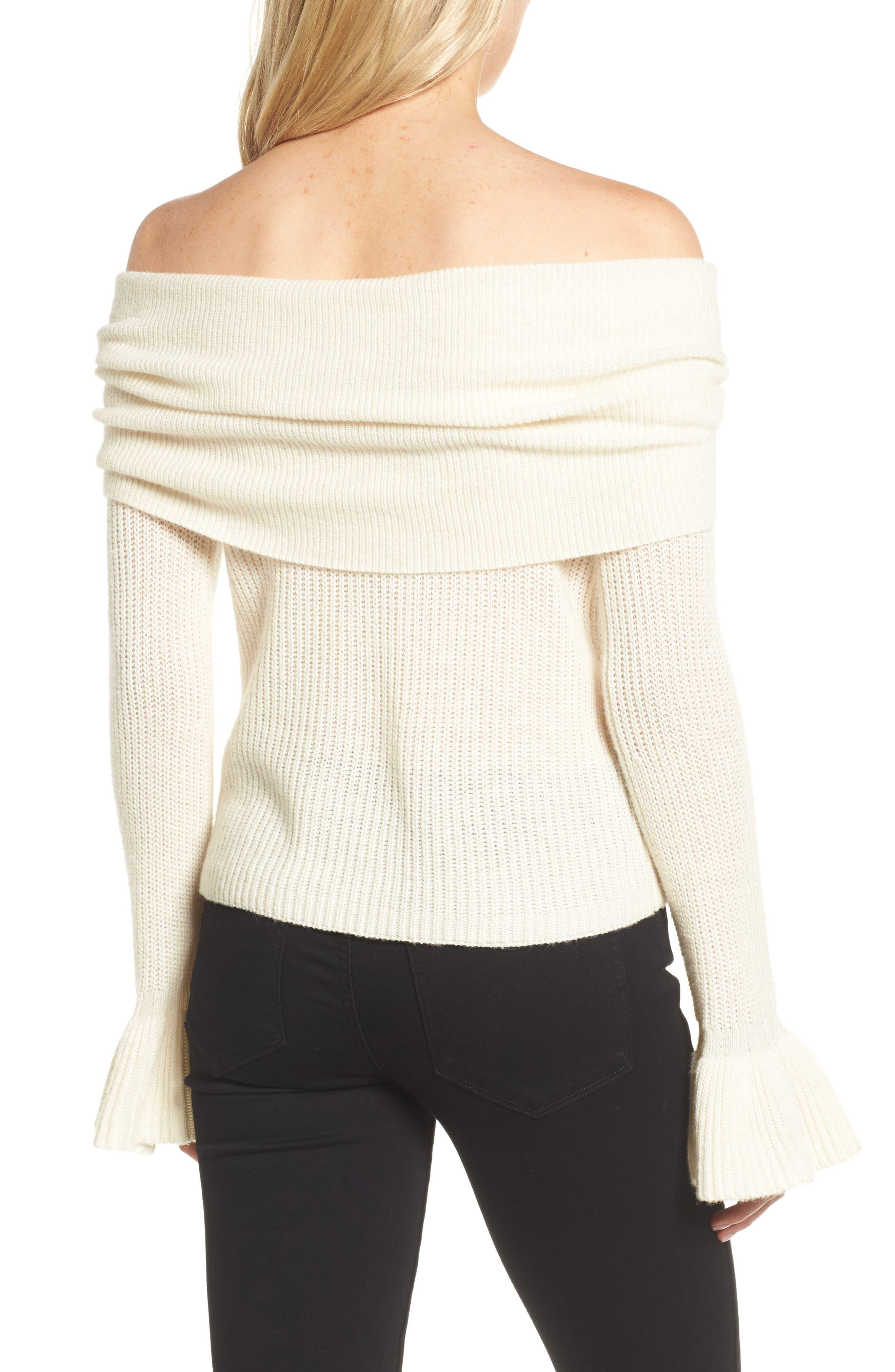 Alternate Image 2  - Ella Moss Off the Shoulder Sweater