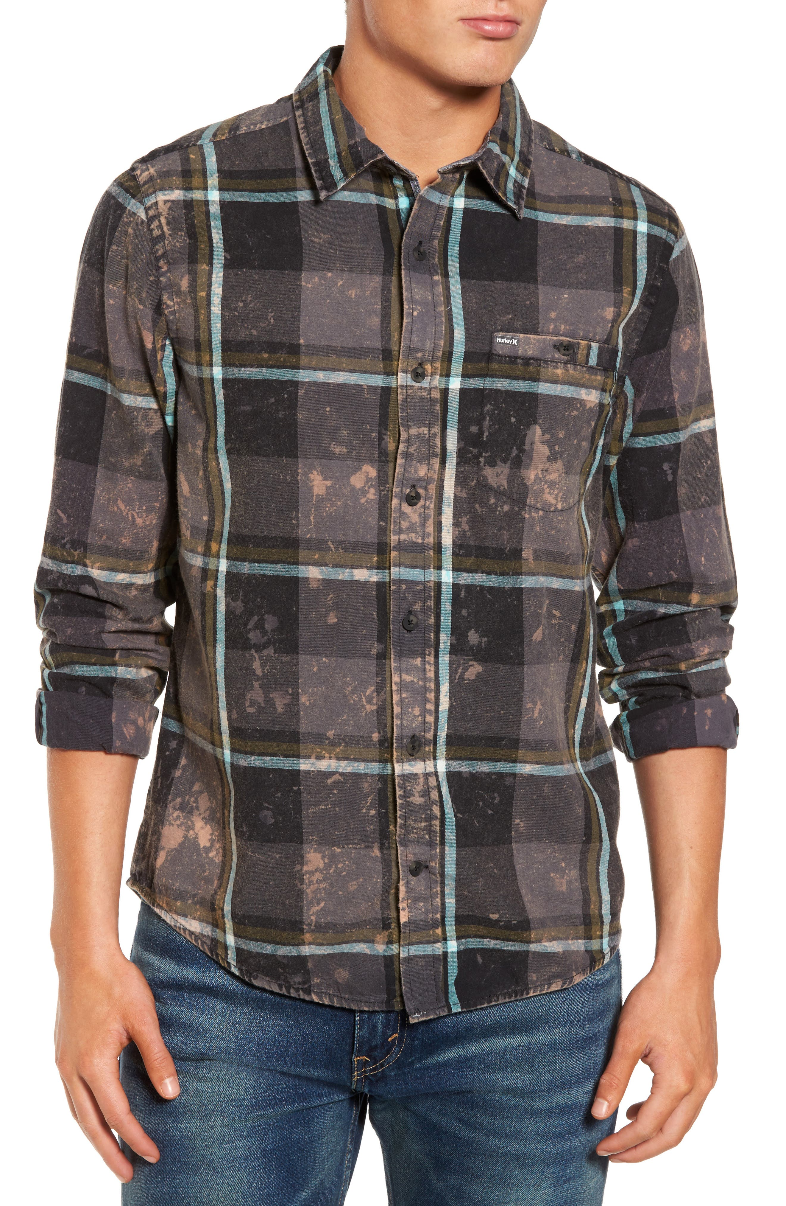 Alternate Image 1 Selected - Hurley Burnside Plaid Shirt