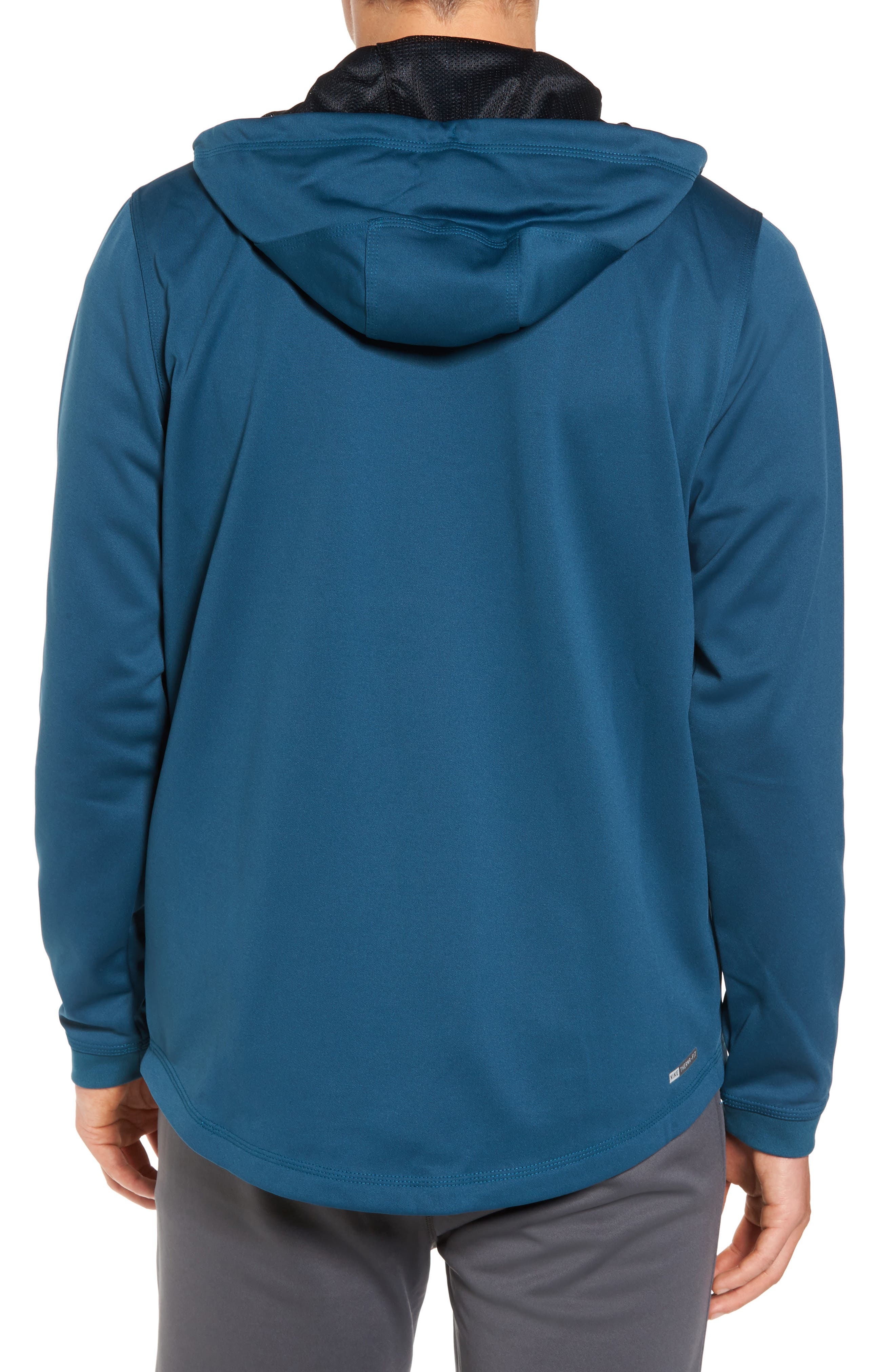 Therma Protect Zip Hoodie,                             Alternate thumbnail 2, color,                             Space Blue