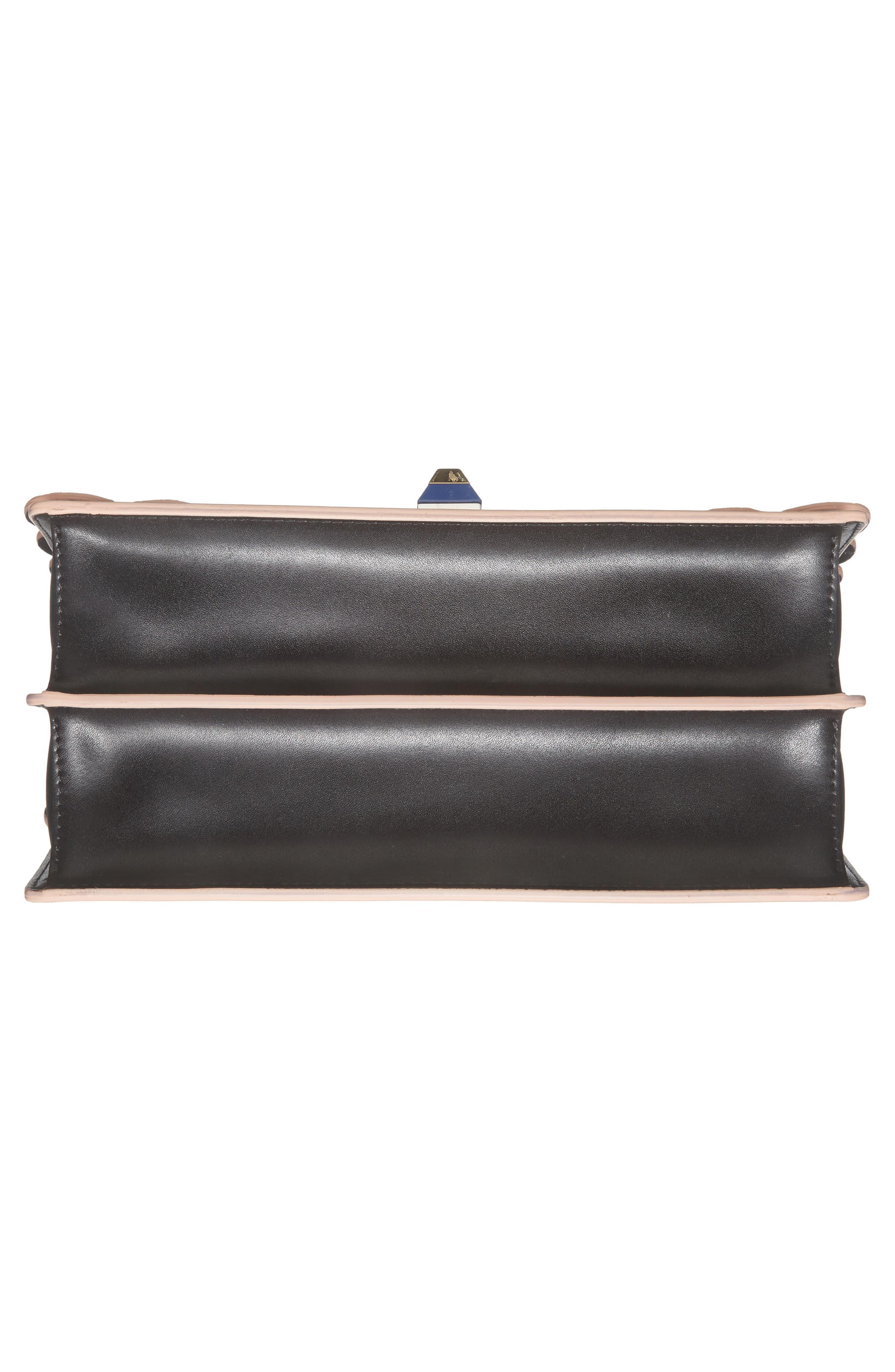 Kan I Stamped Zucca Logo Leather Top Handle Bag,                             Alternate thumbnail 6, color,                             Nero/ Palladio