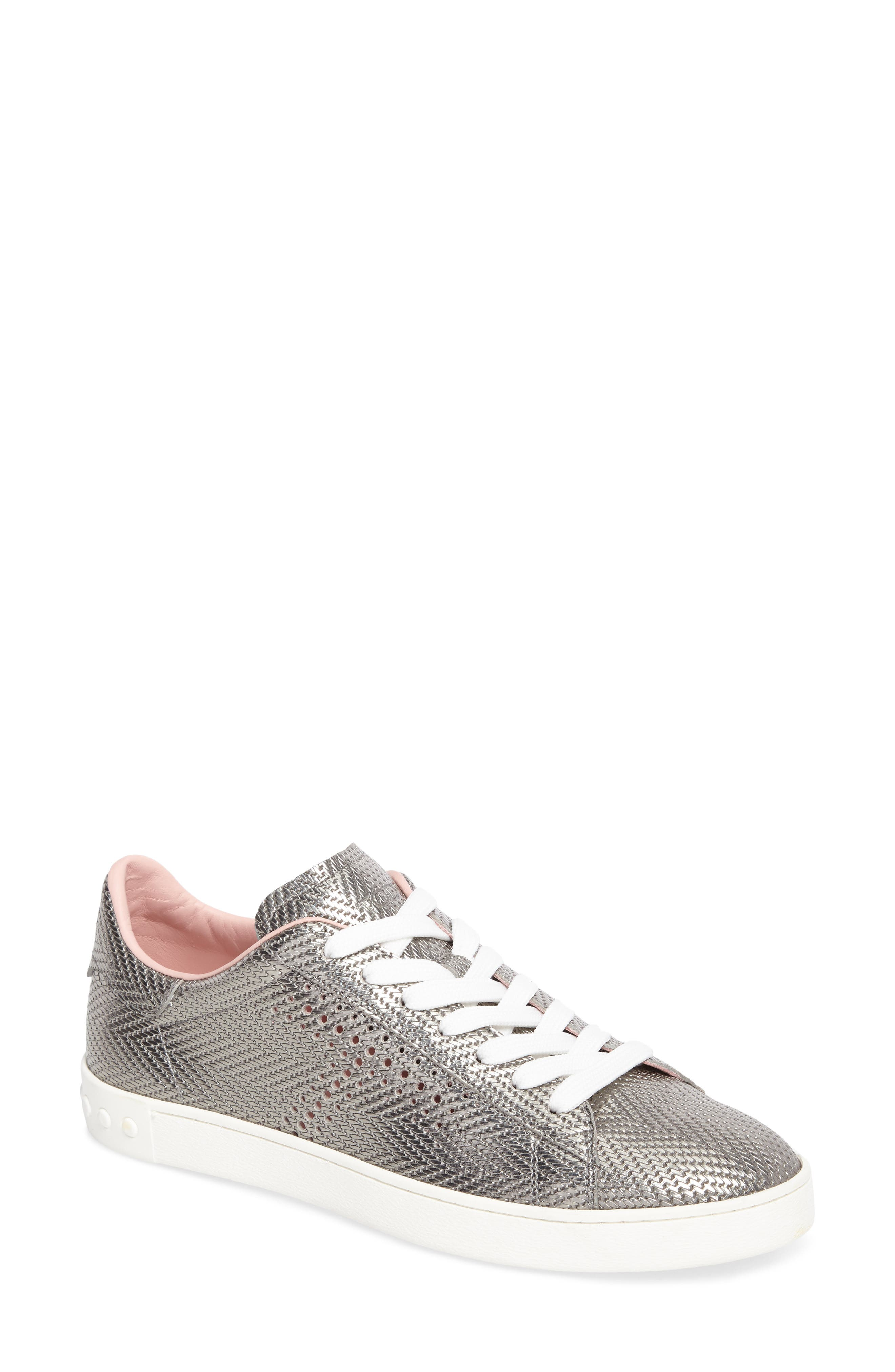Alternate Image 1 Selected - Tod's Perforated T Sneaker (Women)