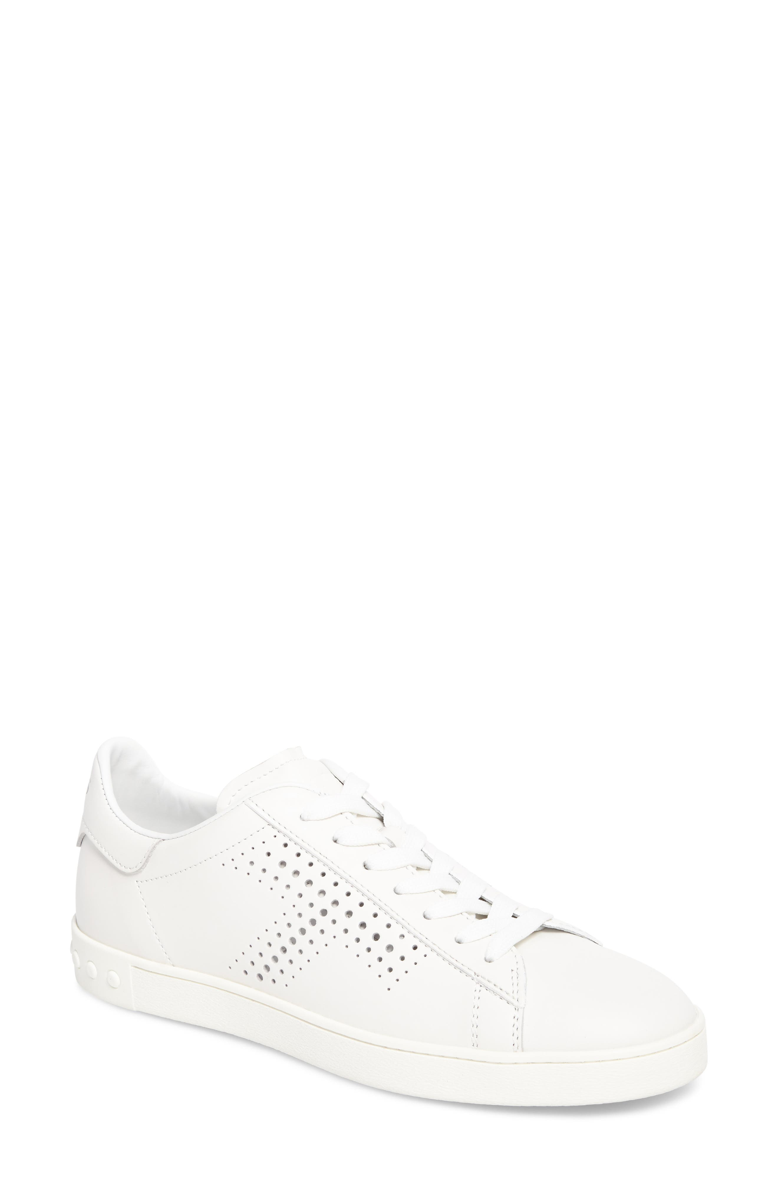 Perforated T Sneaker,                             Main thumbnail 1, color,                             White