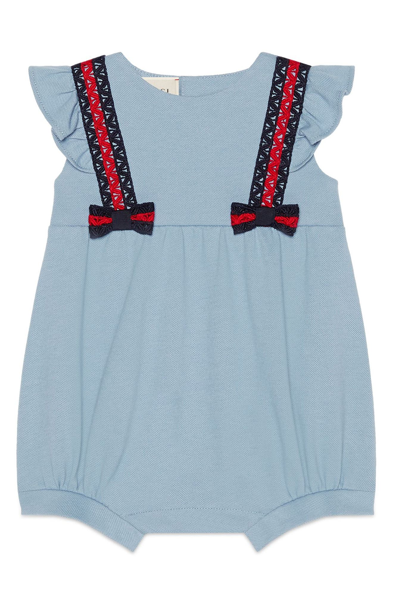 Gucci Short Bubble Romper (Baby Girls)