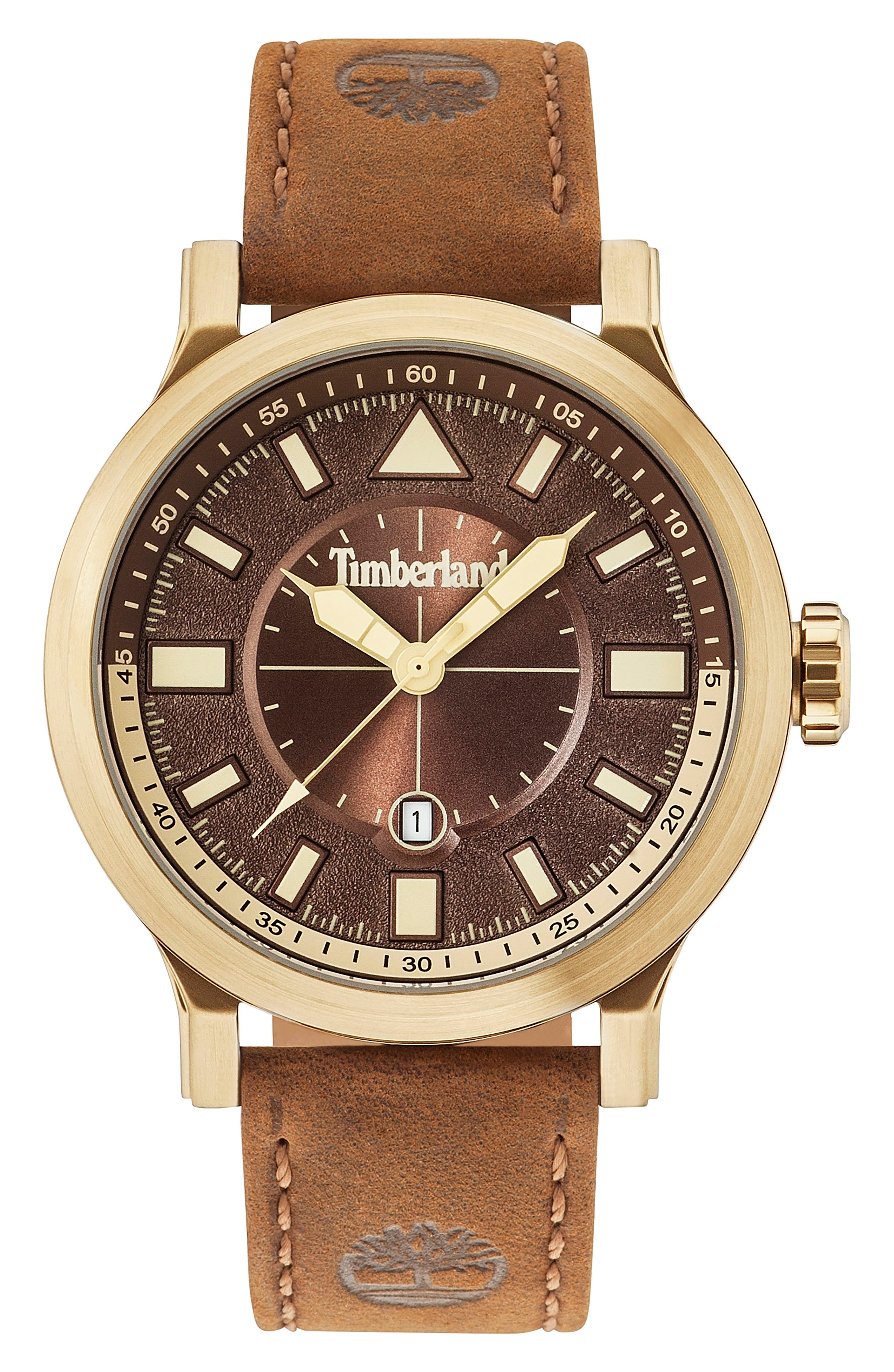 TImberland Driscoll Leather Strap Watch
