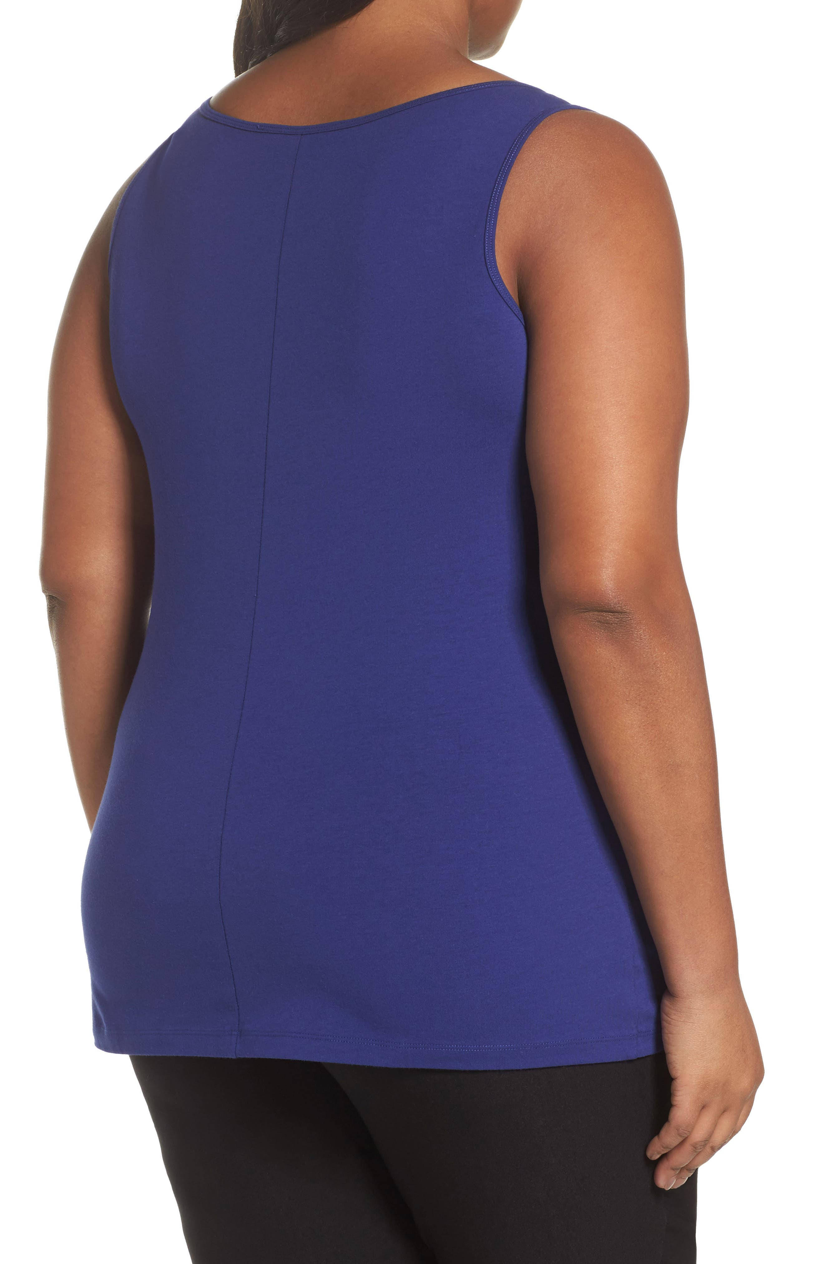 Perfect Scoop Neck Tank,                             Alternate thumbnail 2, color,                             Electric Blue