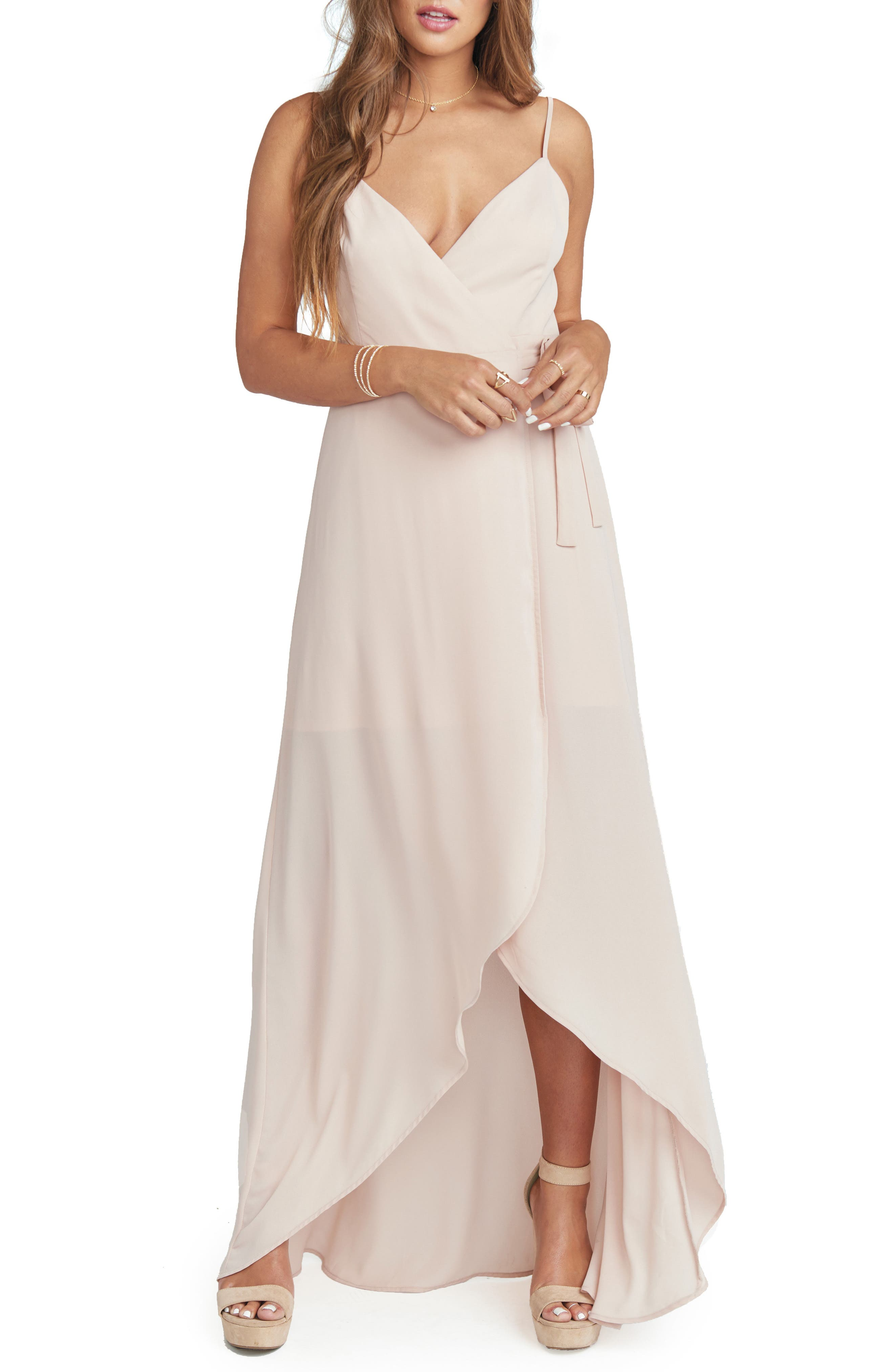Bridesmaid wedding party dresses nordstrom show me your mumu mariah wrap maxi dress ombrellifo Image collections