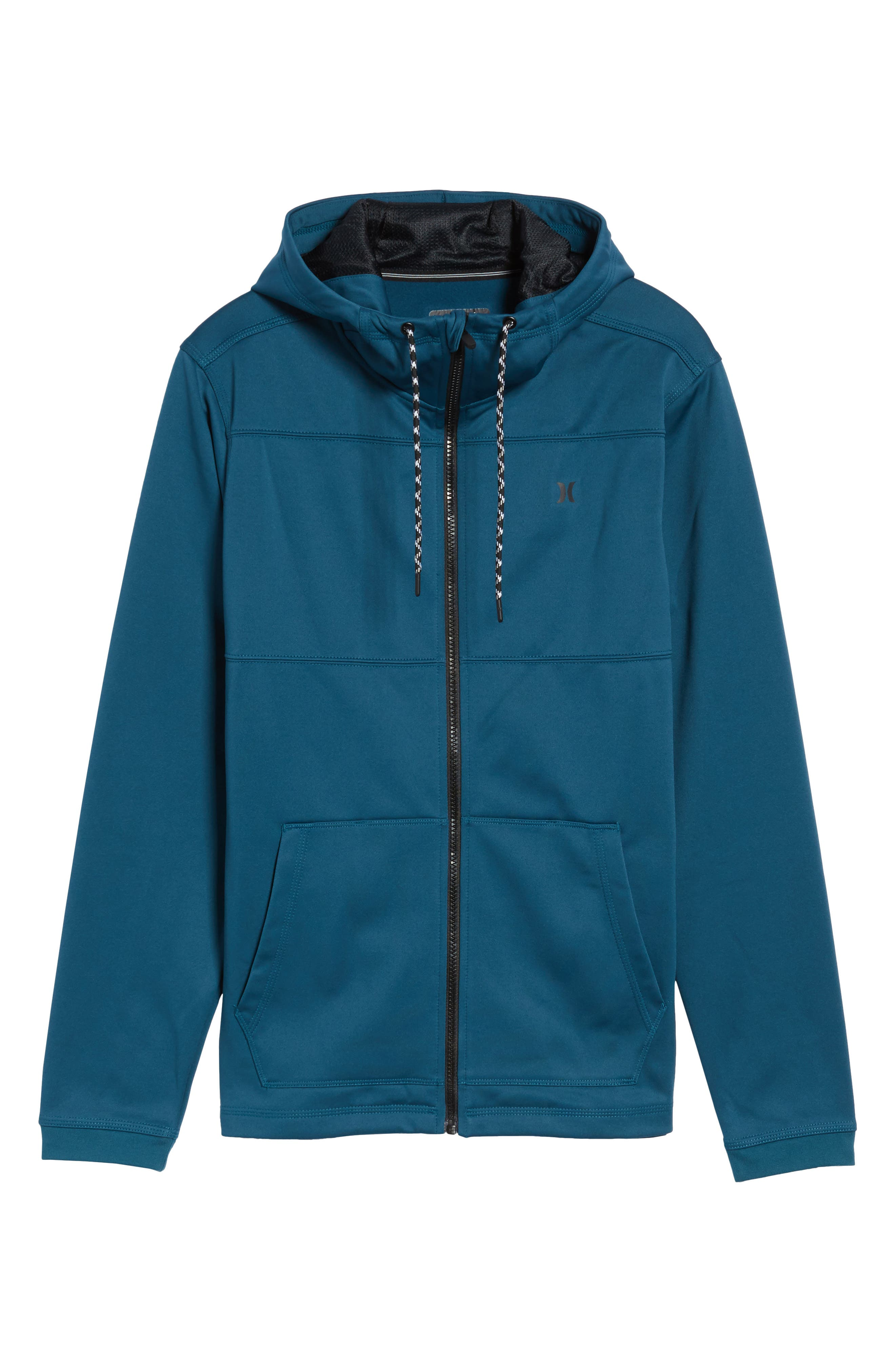 Therma Protect Zip Hoodie,                             Alternate thumbnail 6, color,                             Space Blue
