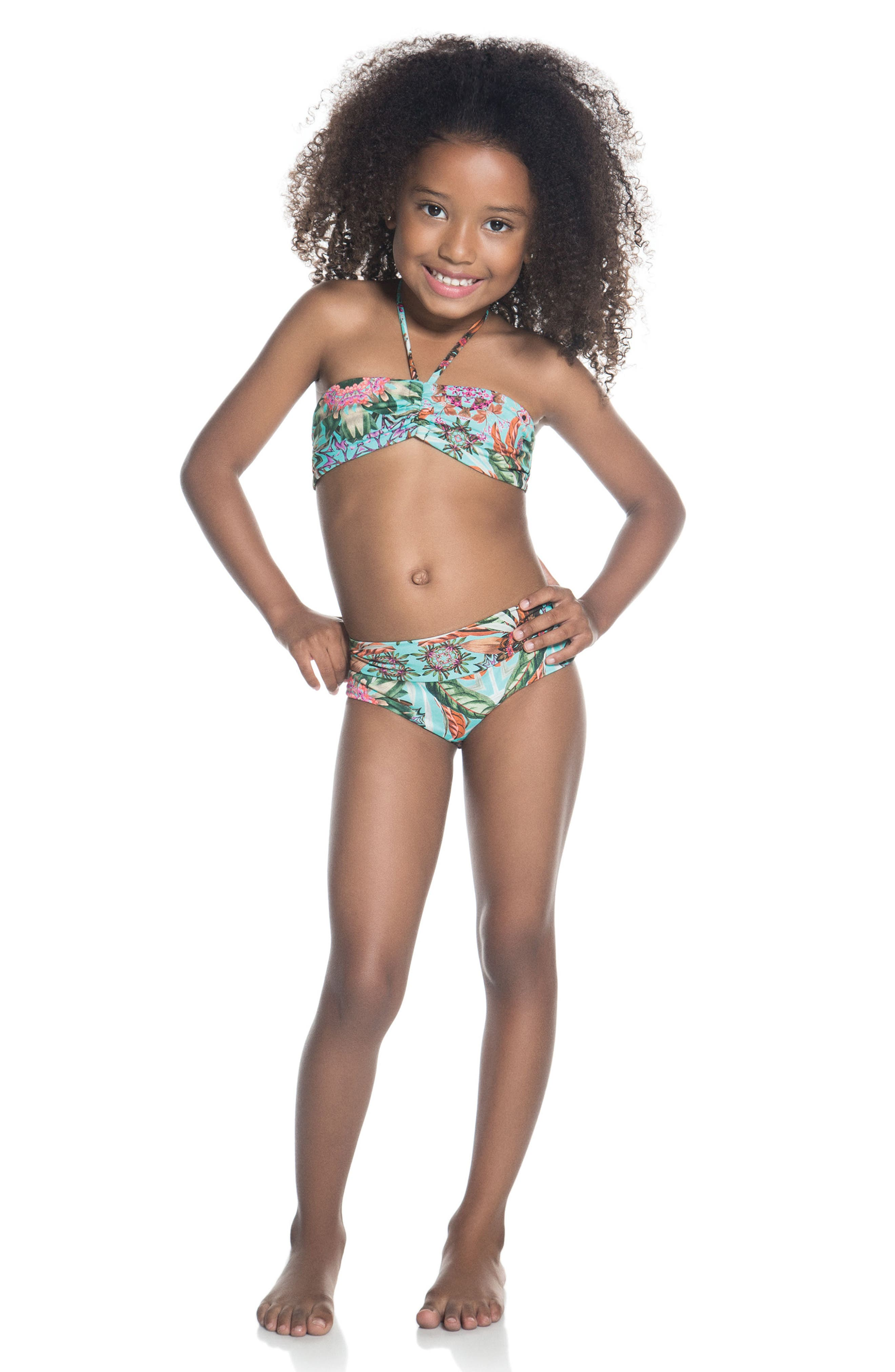 Alternate Image 3  - OndadeMar Amazonia Two-Piece Swimsuit (Little Girls & Big Girls)