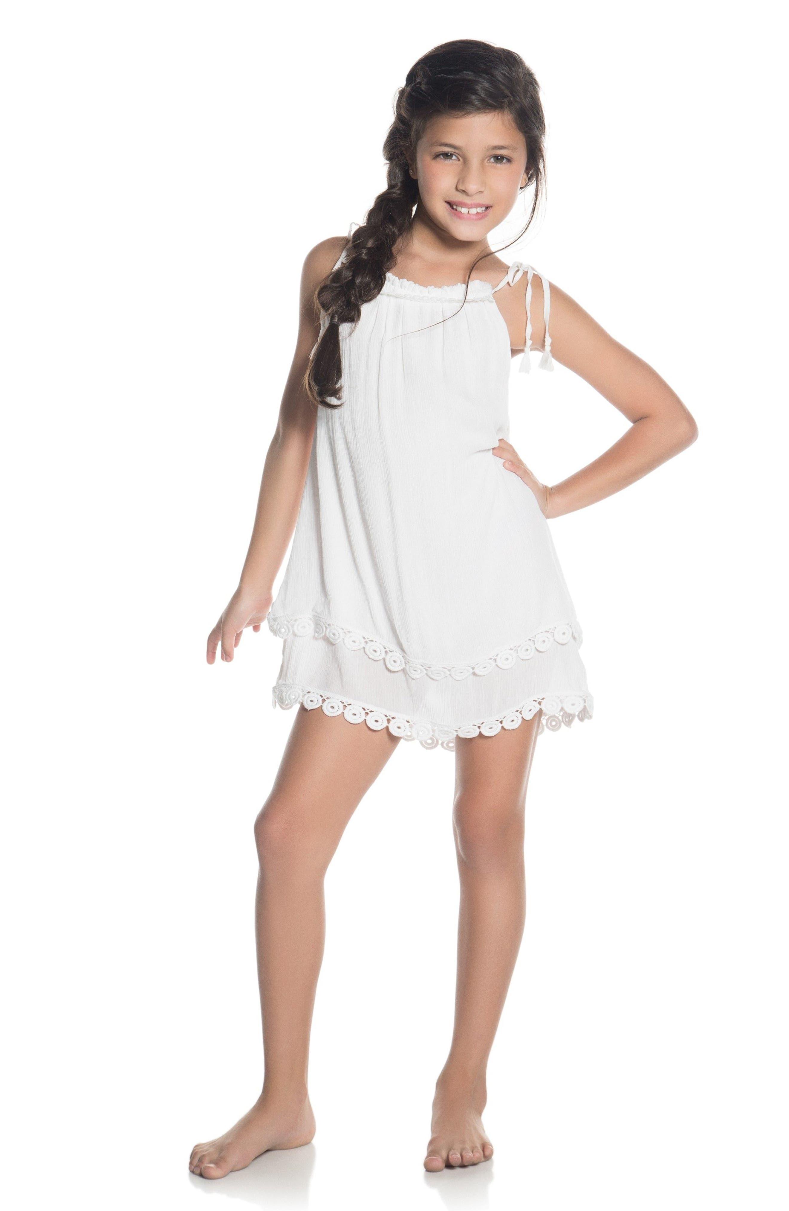 Cover-Up Dress,                             Alternate thumbnail 3, color,                             White
