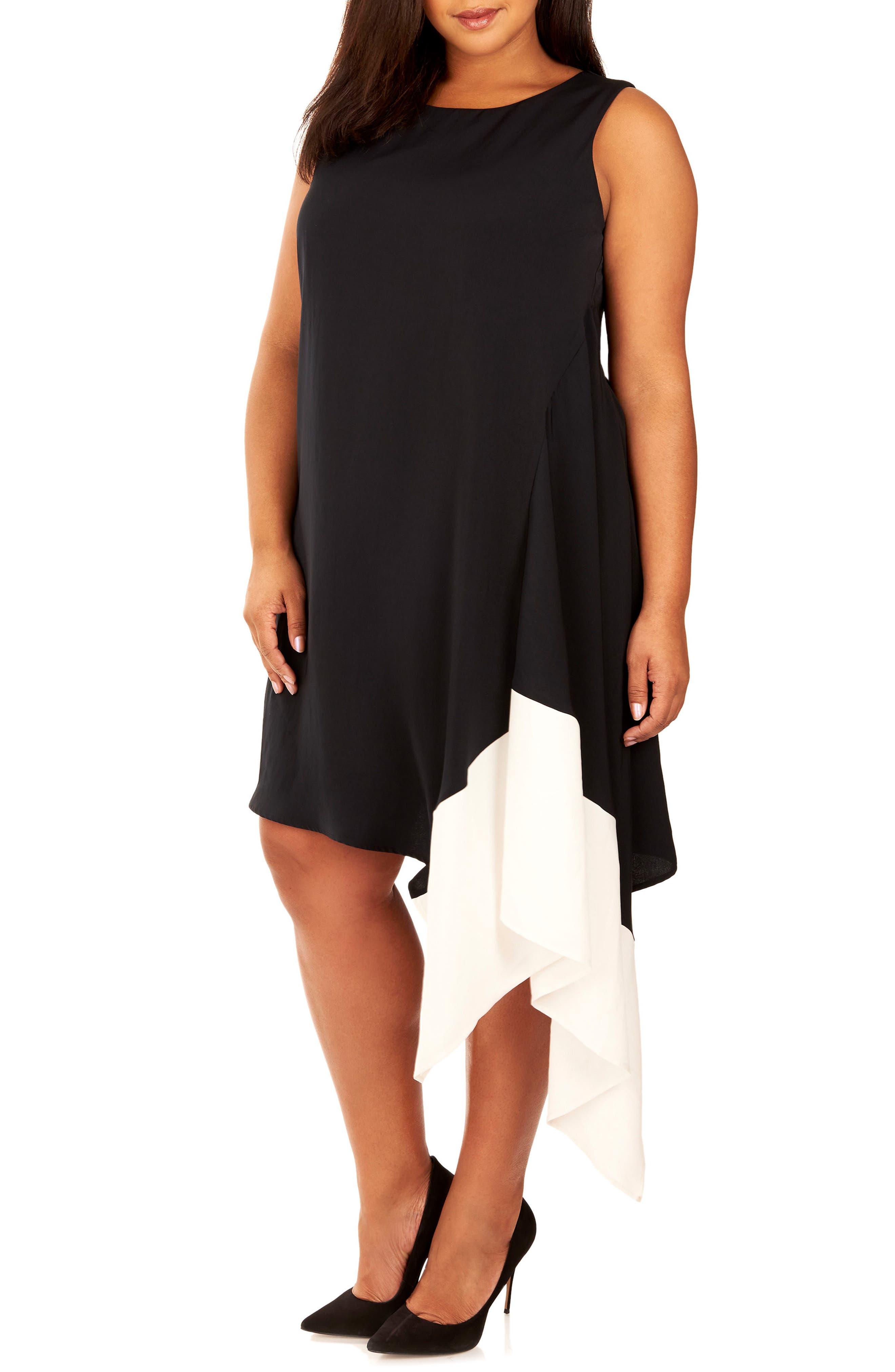 Main Image - Rebel Wilson x Angels Handkerchief Hem Dress (Plus Size)