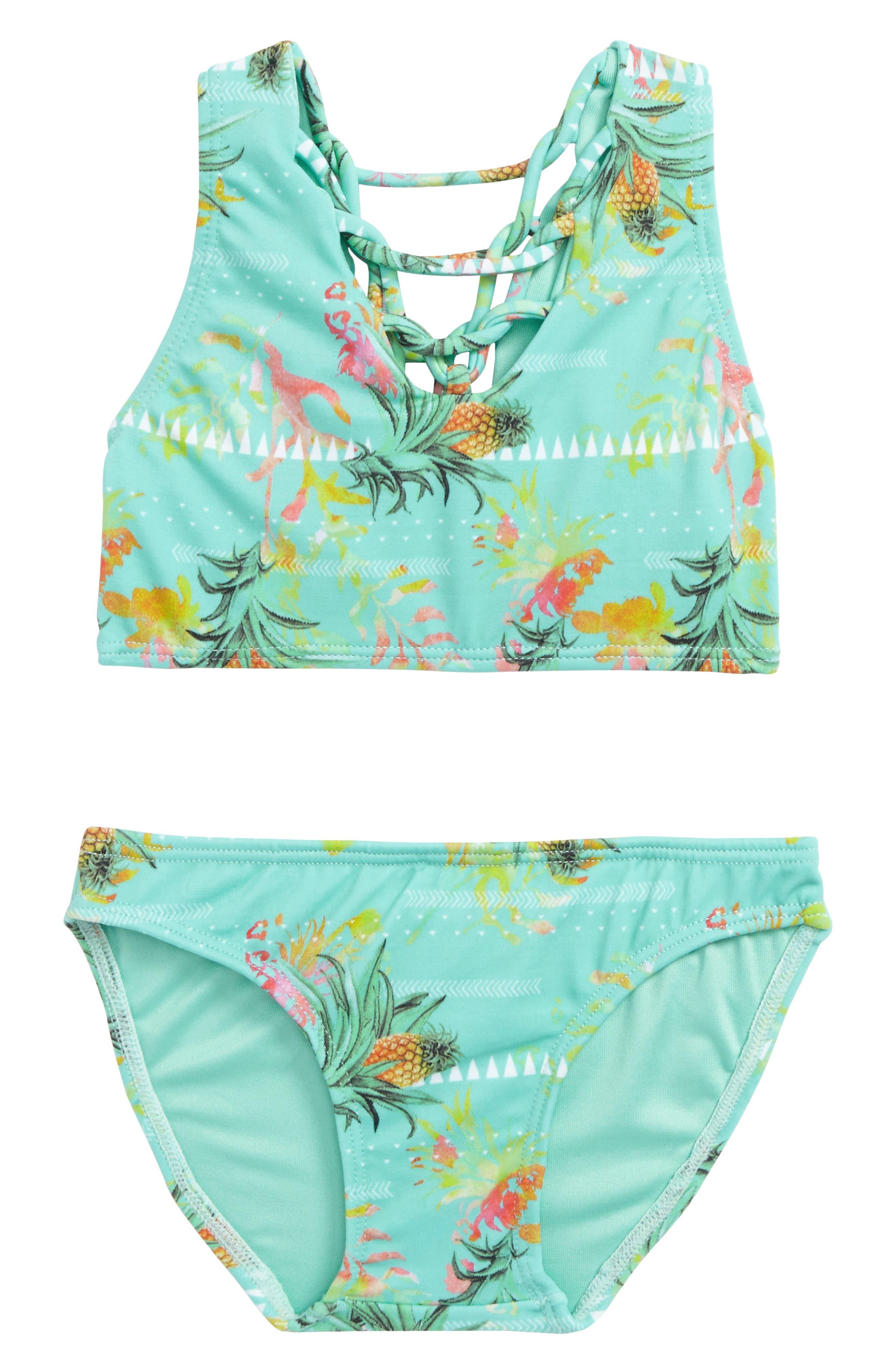 Palma Two-Piece Swimsuit,                         Main,                         color, Pina Colada