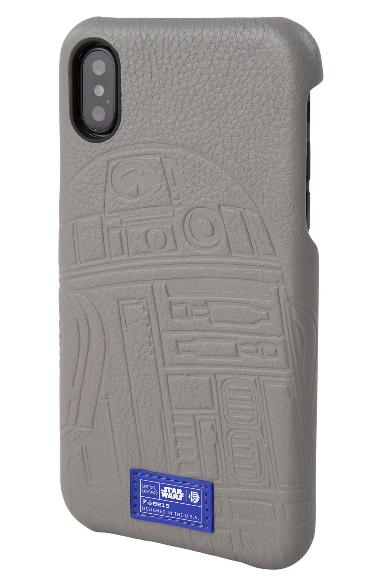 R2-D2 iPhone X Case,                         Main,                         color, Grey