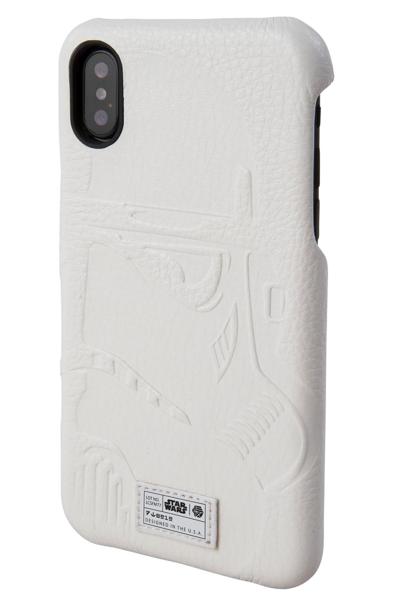 Stormtrooper iPhone X Case,                             Main thumbnail 1, color,                             White