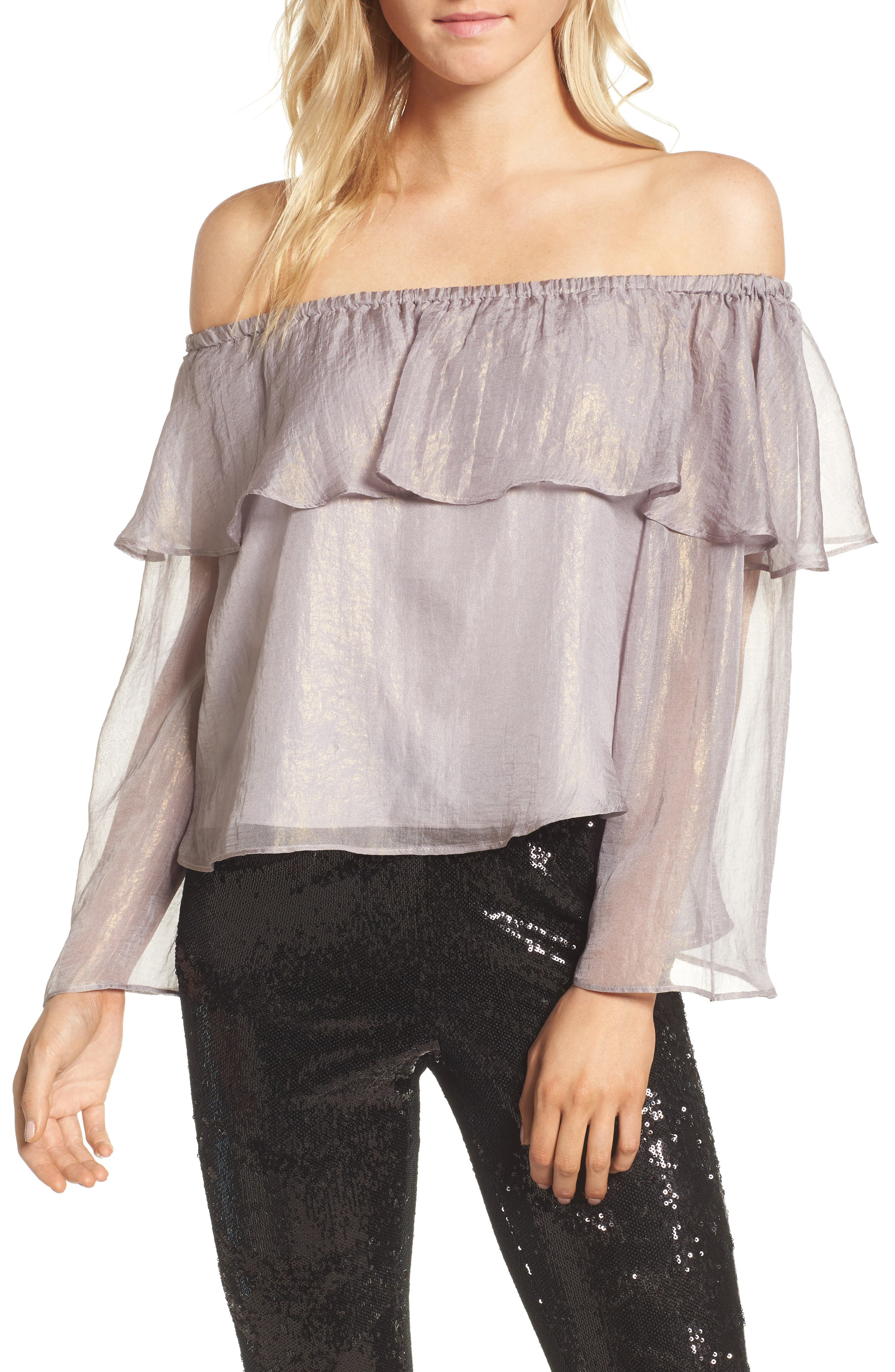 Cupcakes And Cashmere JOBETTE OFF THE SHOULDER TOP