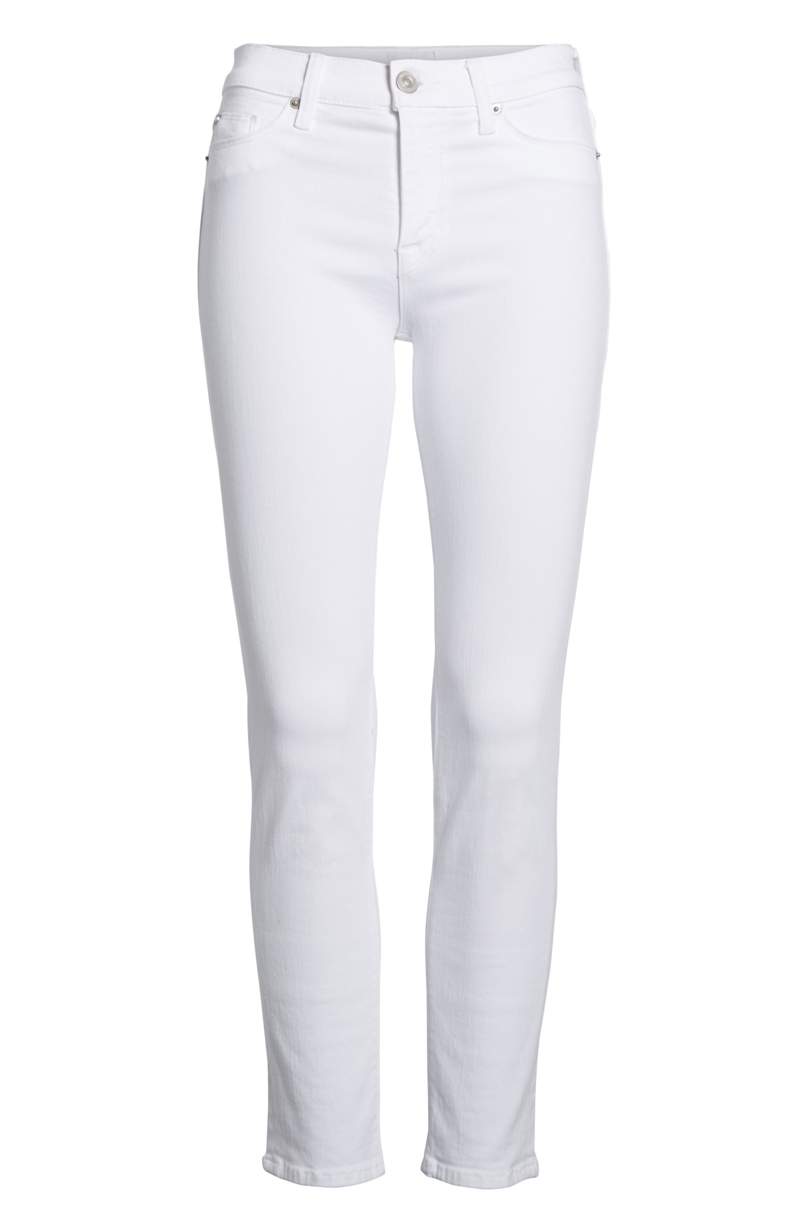 Tally Ankle Skinny Jeans,                             Alternate thumbnail 7, color,                             Optical White