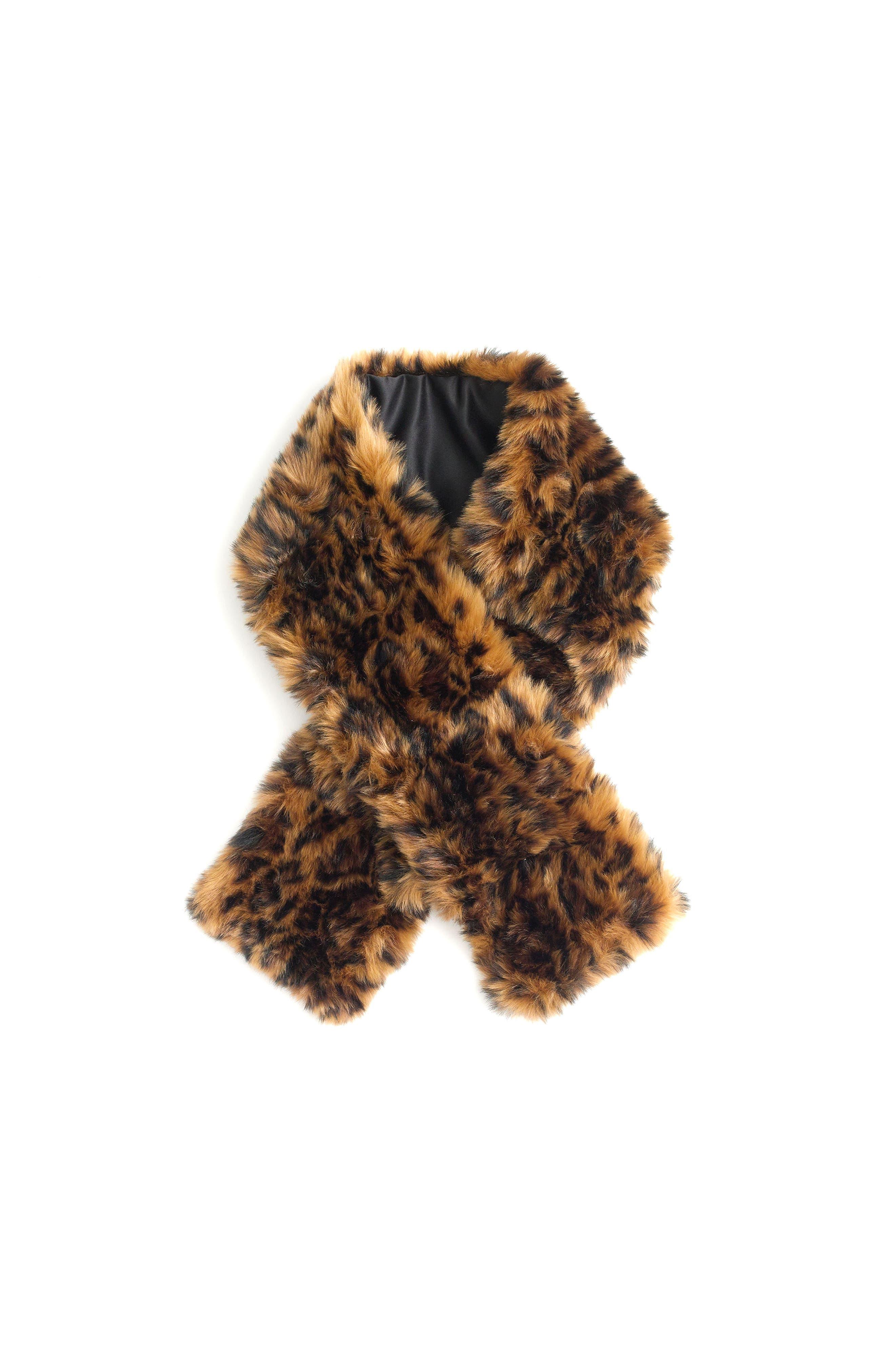 J.Crew Leopard Faux Fur Stole