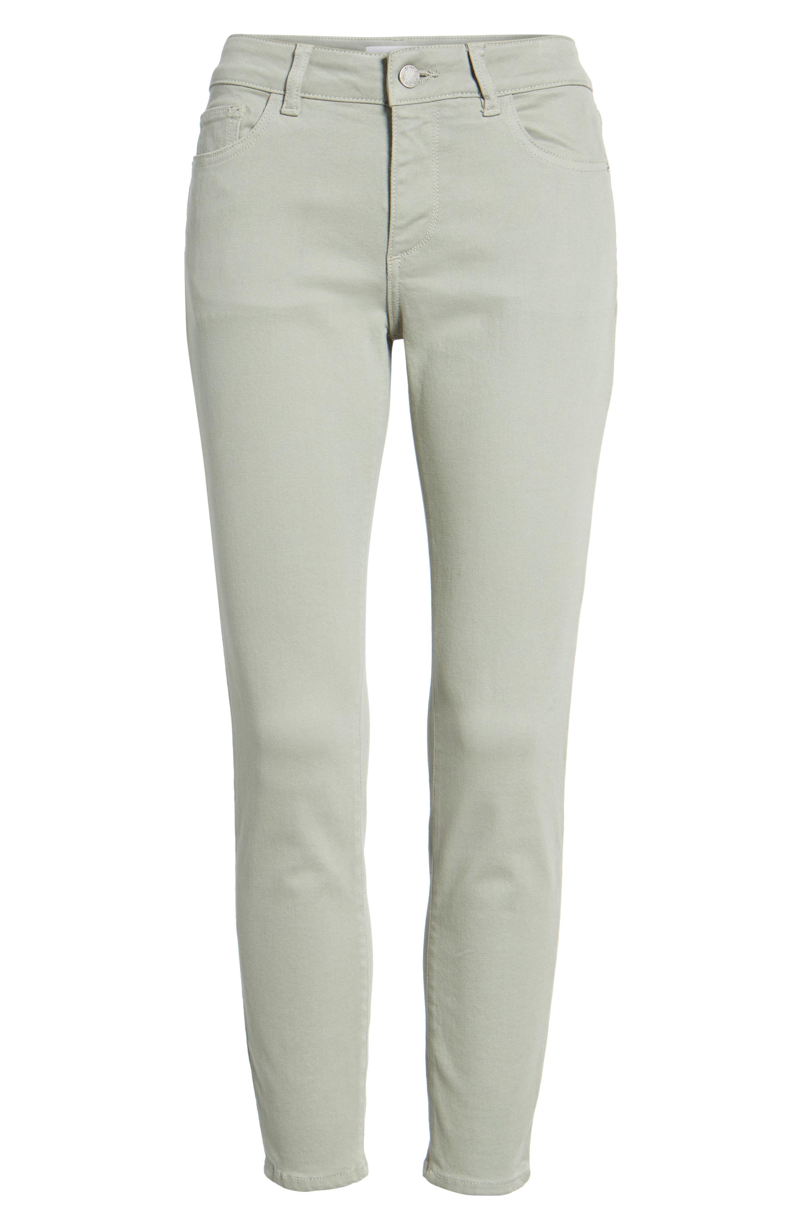 Florence Instasculpt Crop Skinny Jeans,                             Alternate thumbnail 7, color,                             Grove
