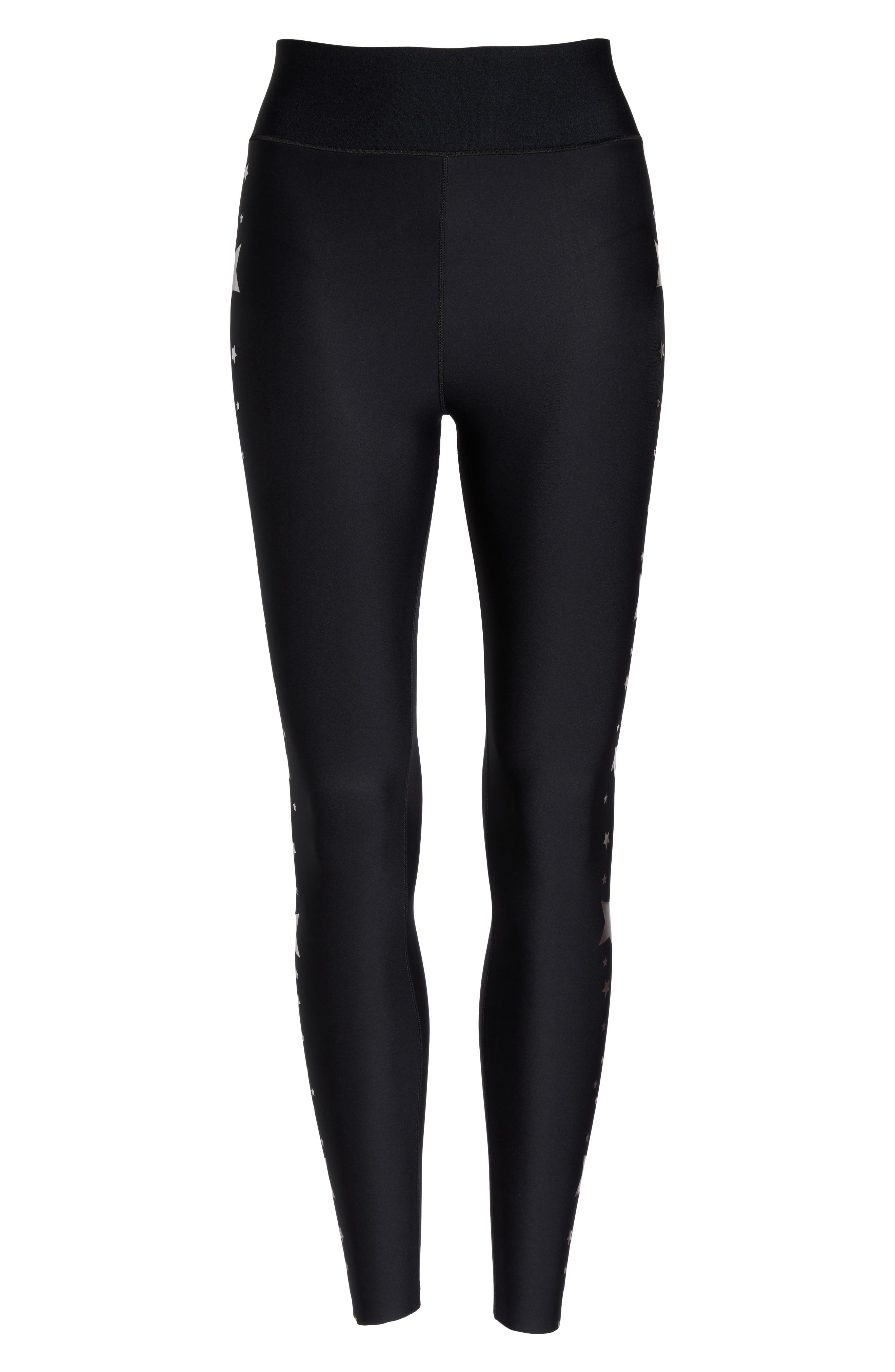 Lux Stellar High Waist Leggings,                             Alternate thumbnail 7, color,                             Nero Rose