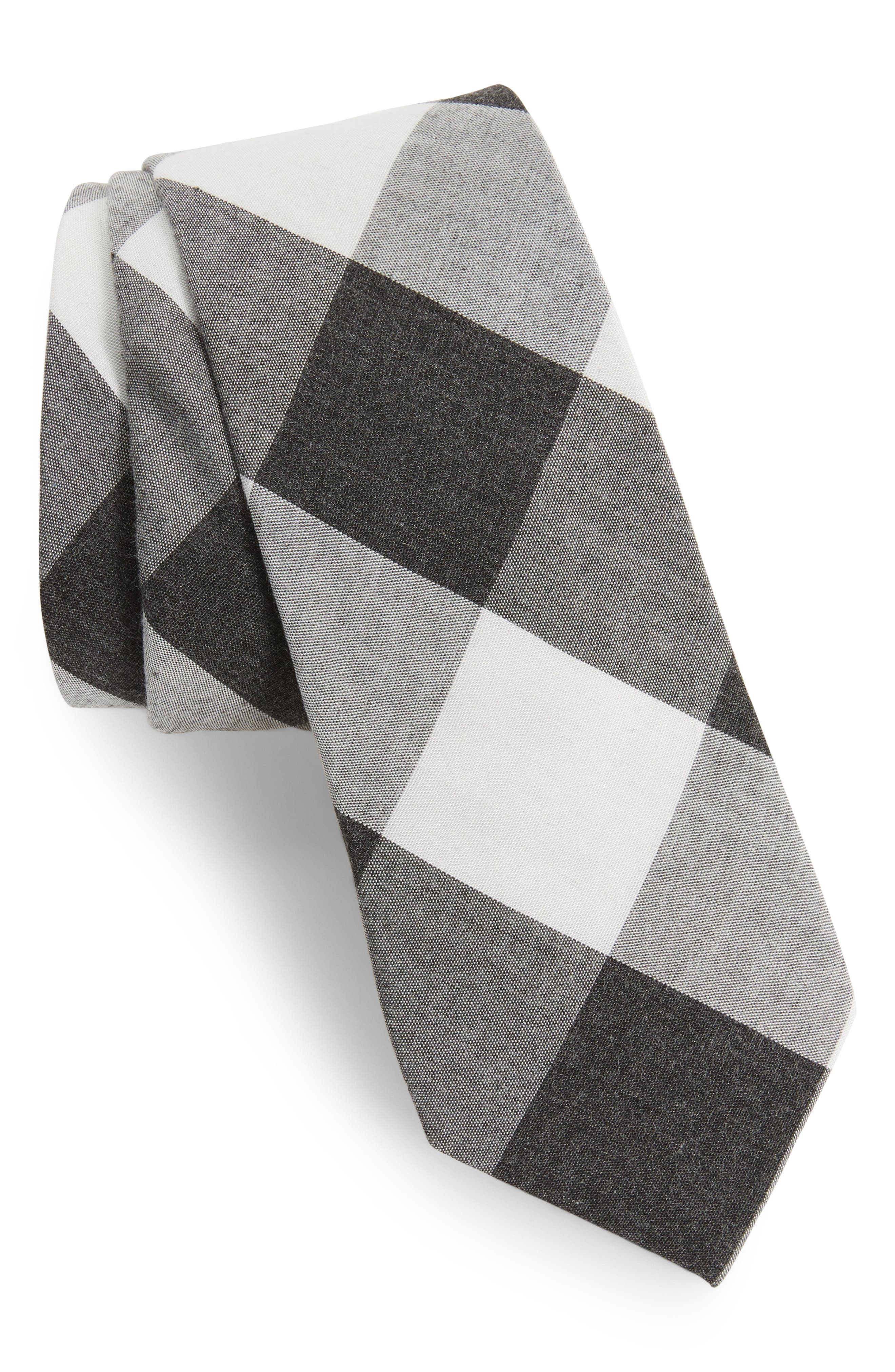 1901 Caden Check Skinny Tie