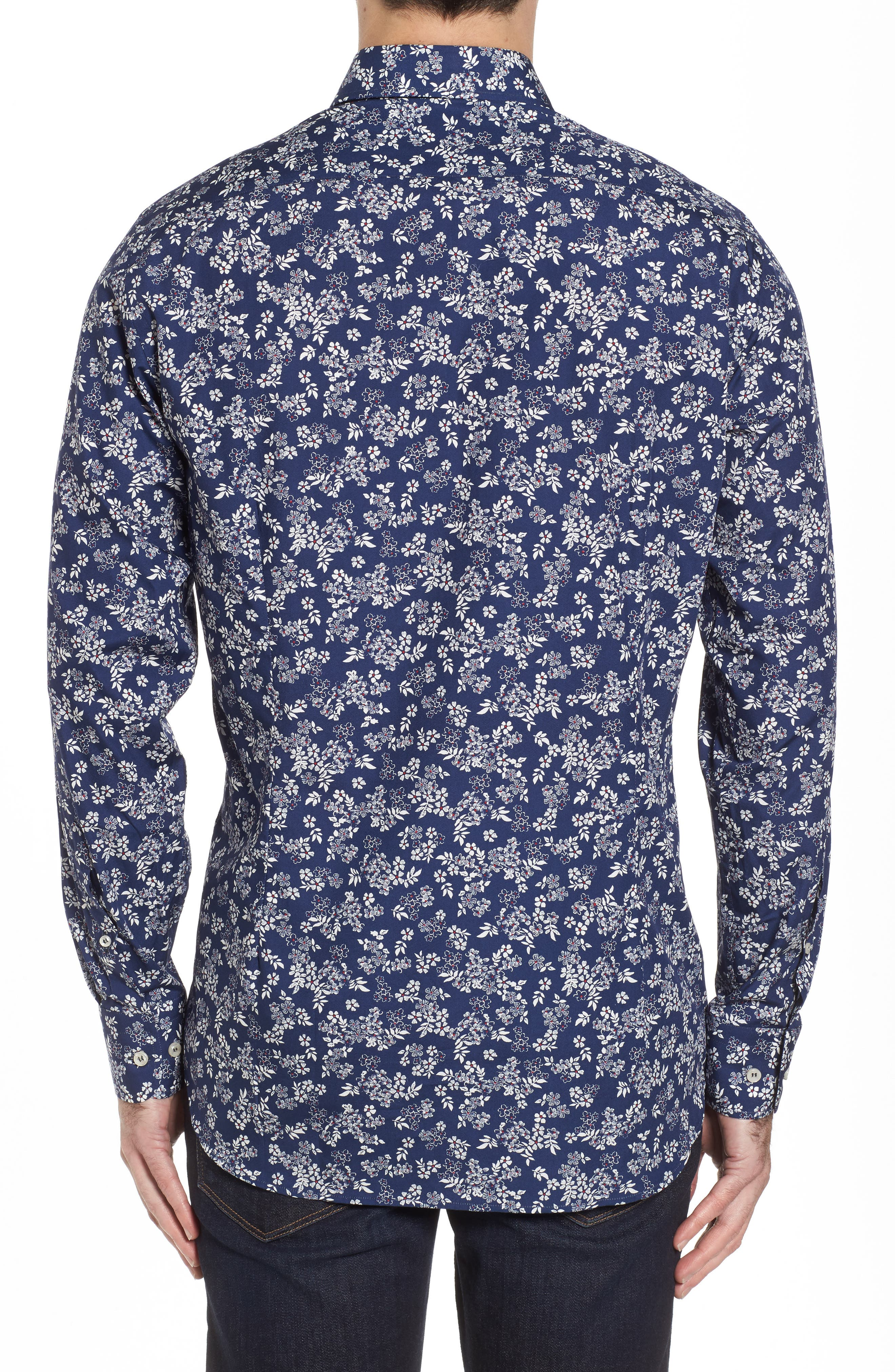 Alternate Image 2  - Paul & Shark Regular Fit Flower Print Sport Shirt