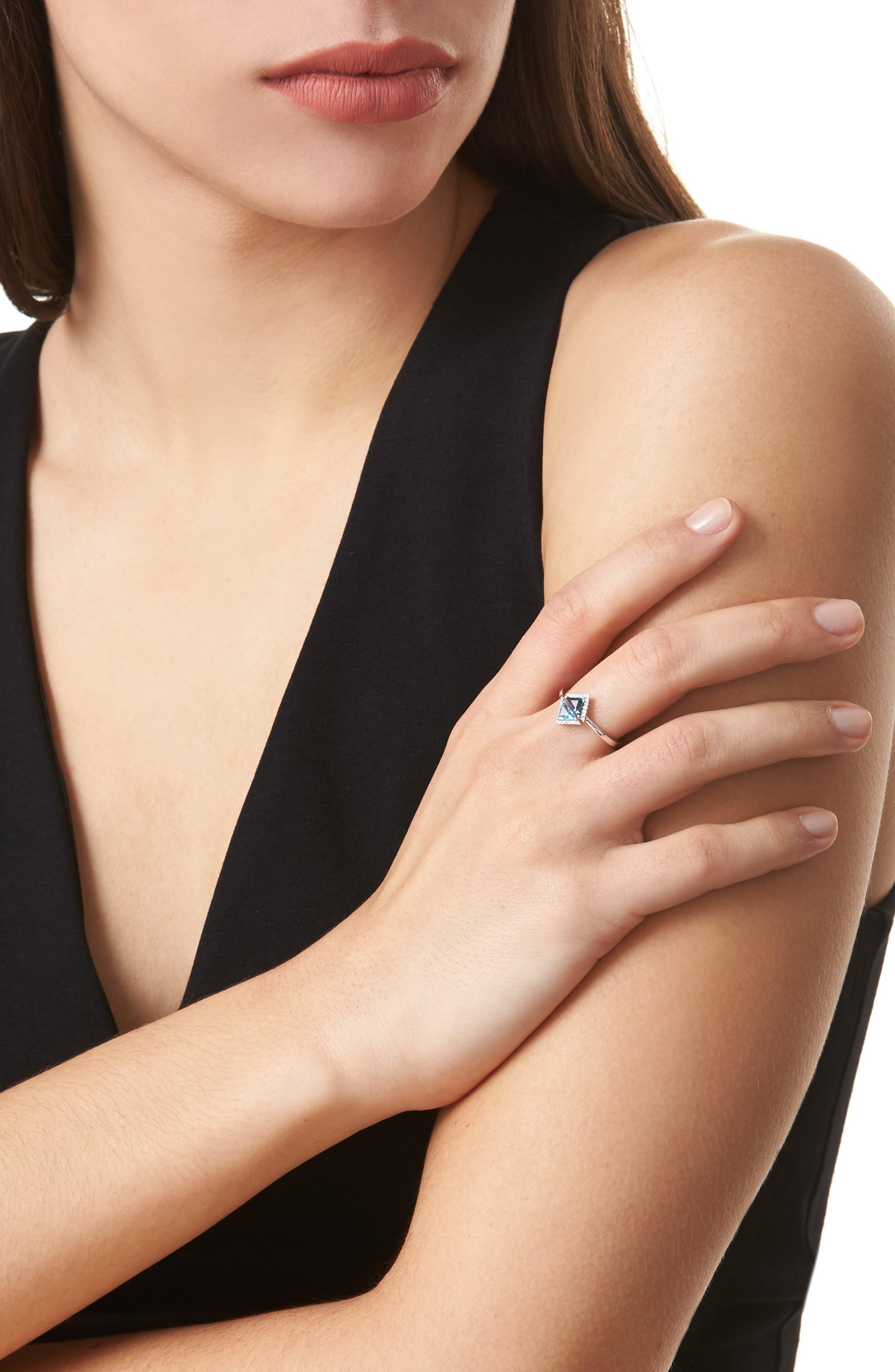 Alternate Image 2  - Bony Levy Iris Double Triangle Diamond & Semiprecious Stone Ring (Nordstrom Exclusive)