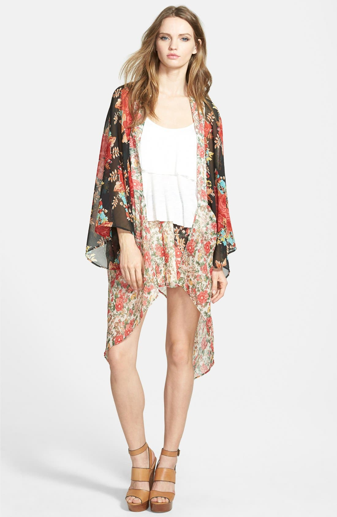 Alternate Image 4  - Band of Gypsies Mix Print Kimono