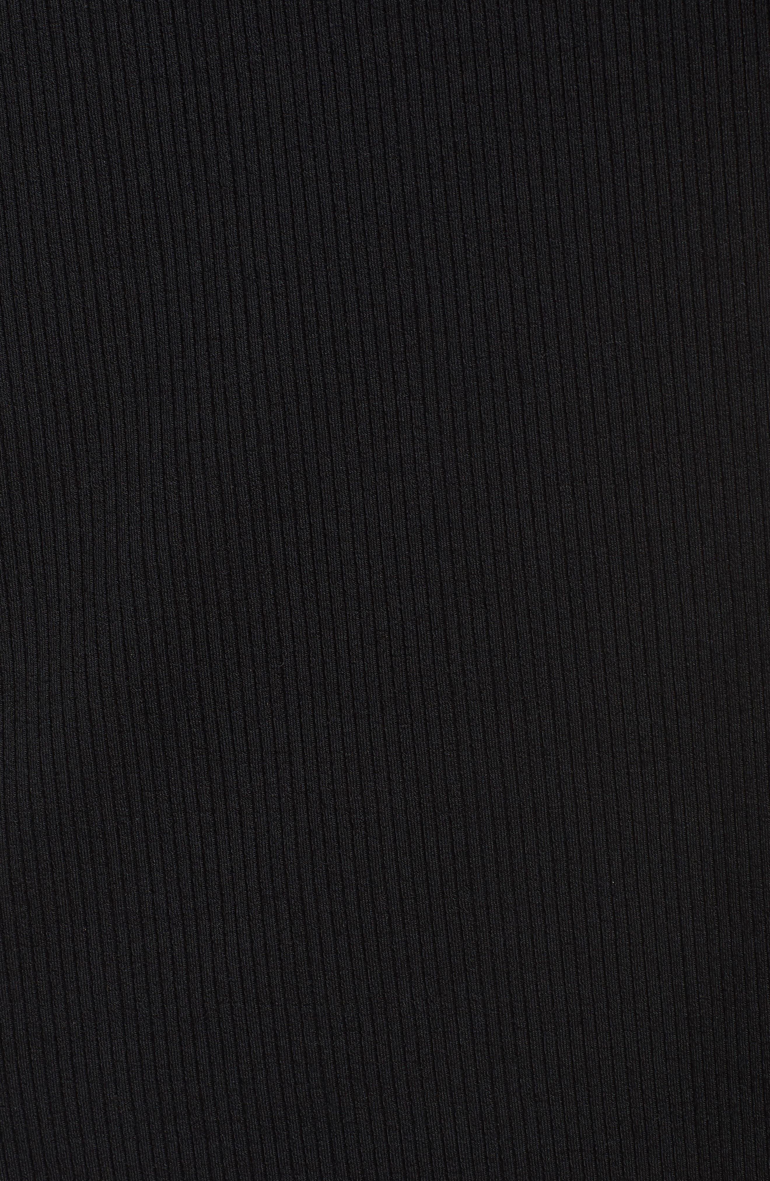 Easy Long Open Front Cardigan,                             Alternate thumbnail 5, color,                             Black