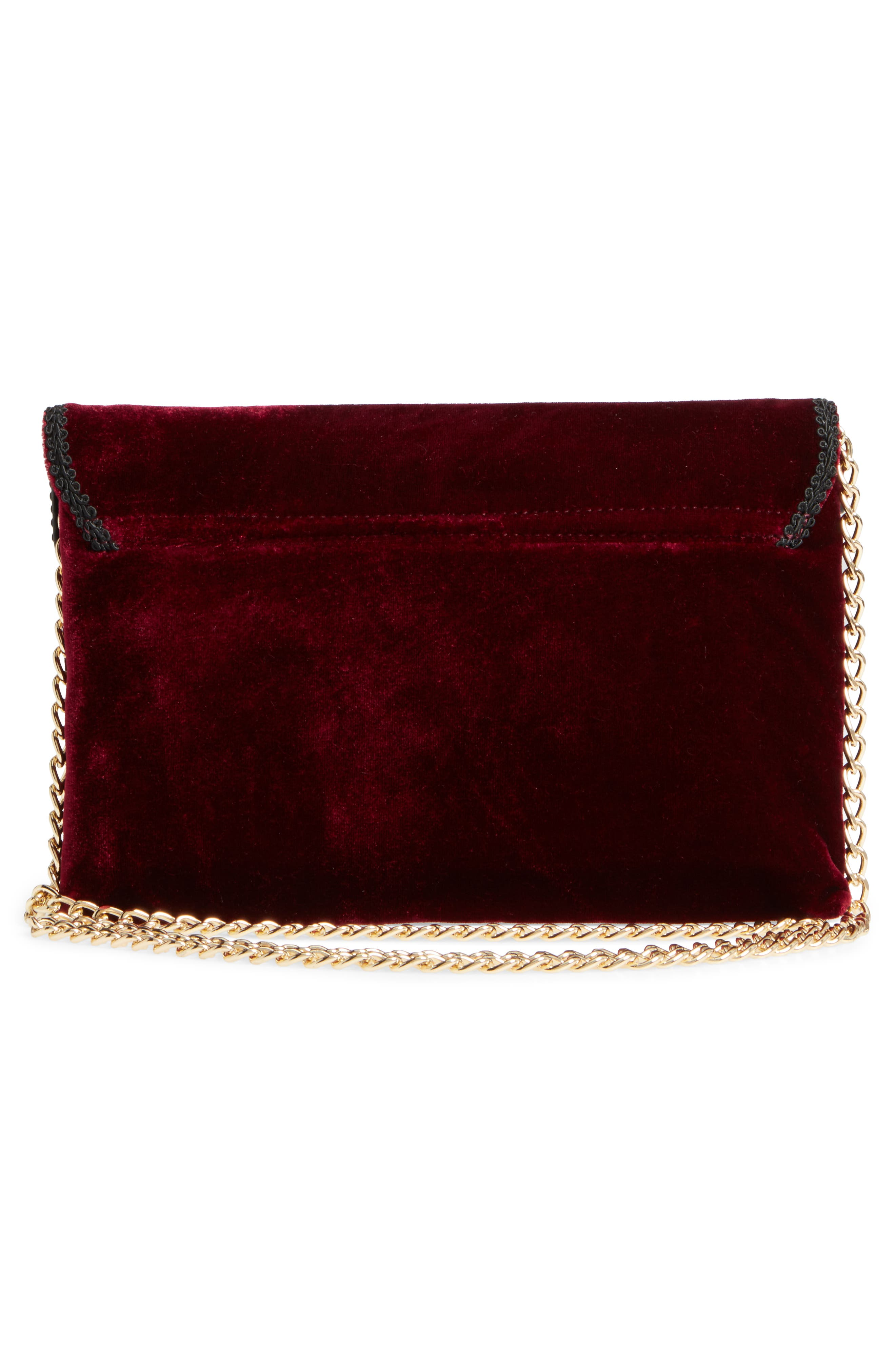 Alternate Image 3  - Leith Embellished Velvet Clutch