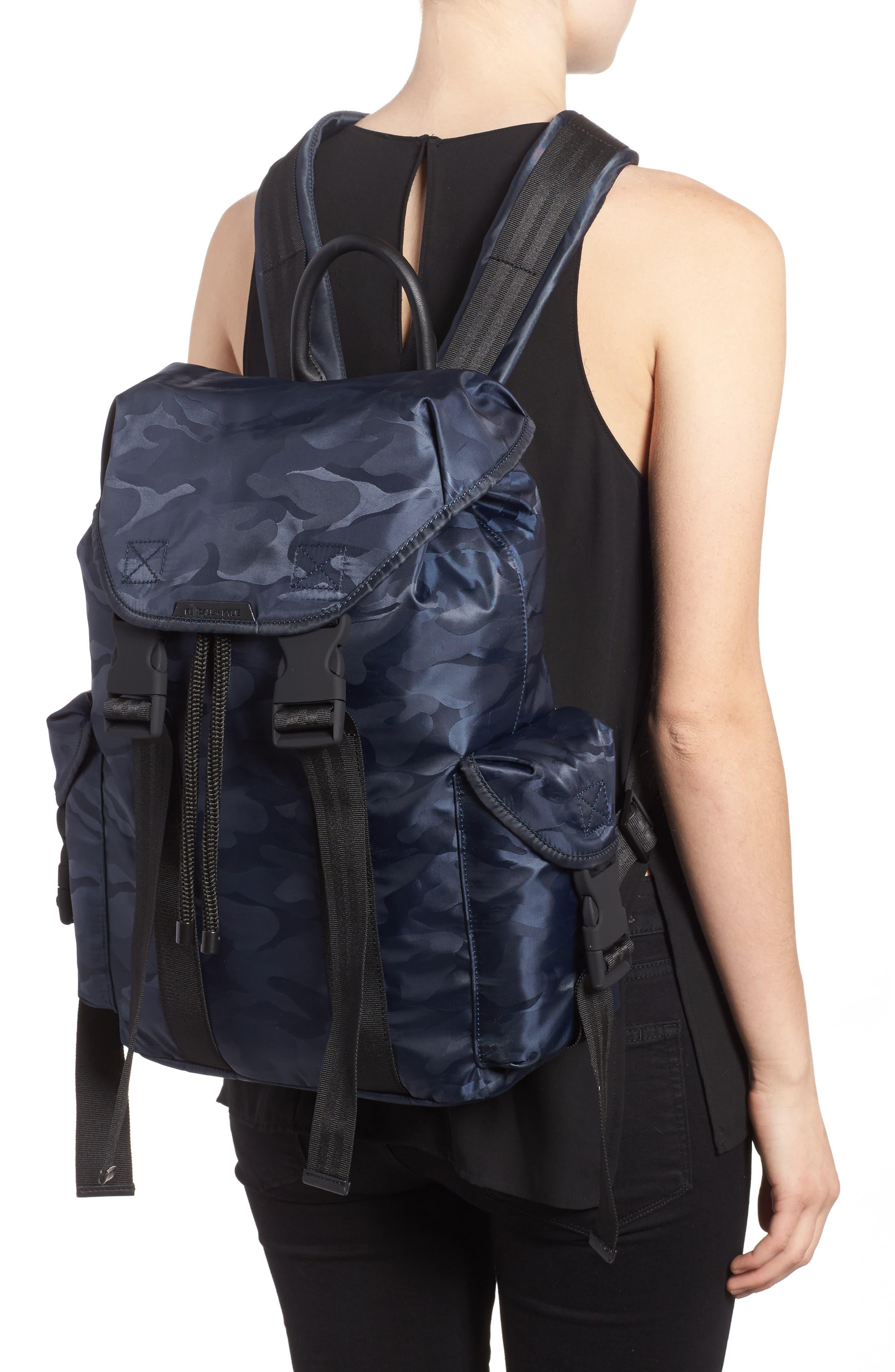 Jordyn Nylon Backpack,                             Alternate thumbnail 2, color,                             Navy Camo
