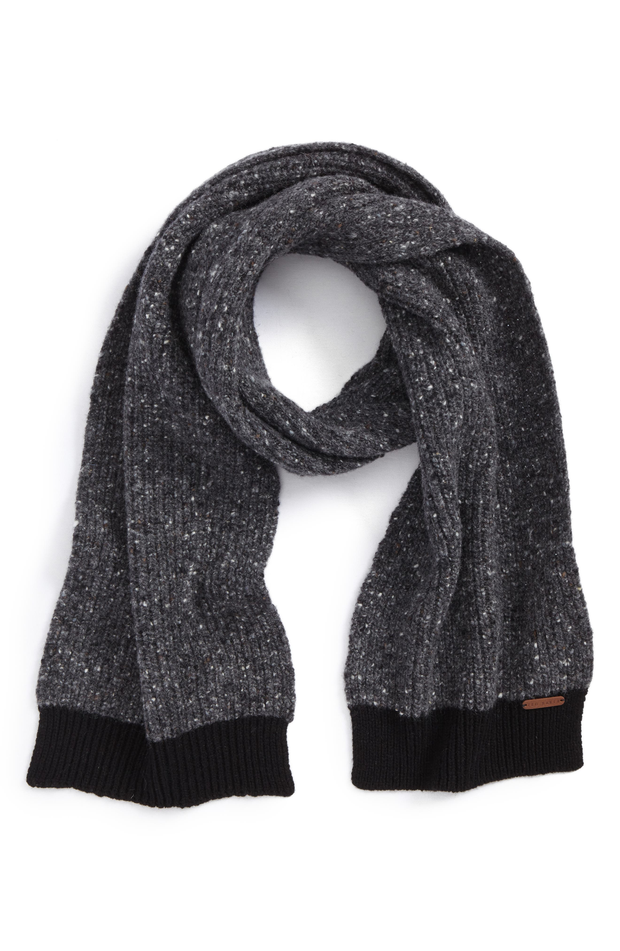 Oaks Donegal Scarf,                             Main thumbnail 1, color,                             Charcoal