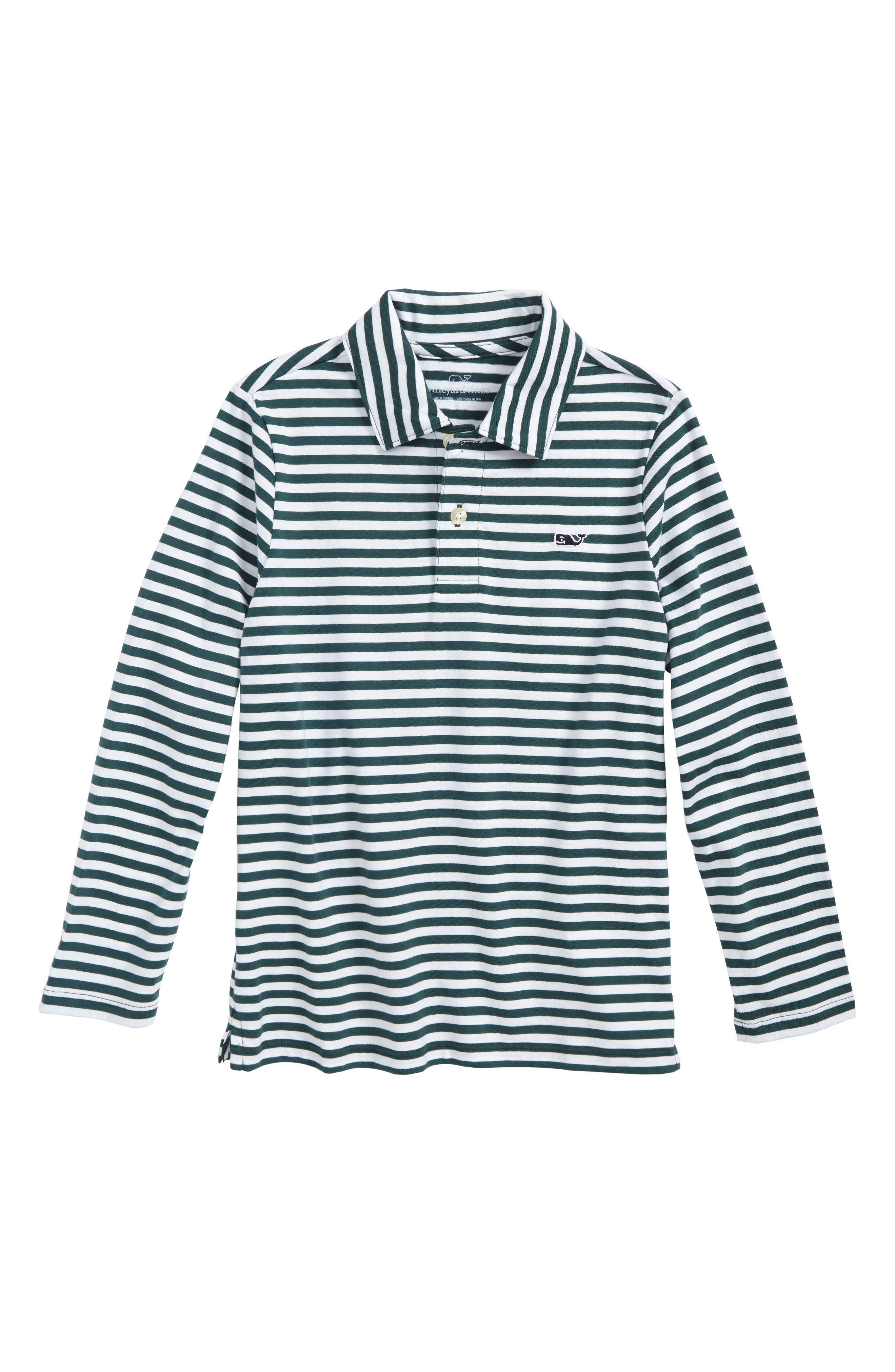 vineyard vines Stripe Pima Cotton Jersey Polo (Toddler Boys & Little Boys)