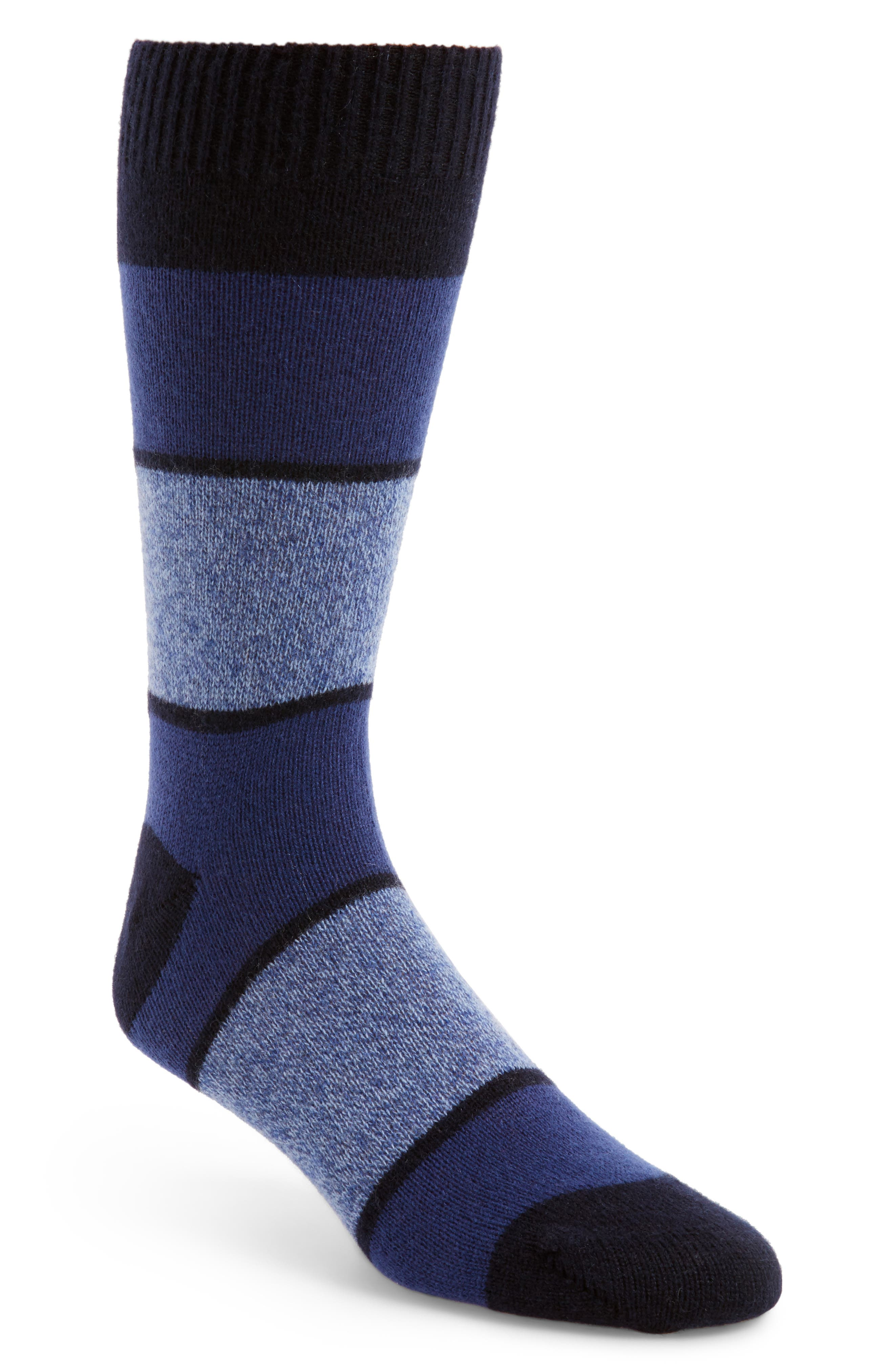 Pantherella Block Stripe Cashmere Socks