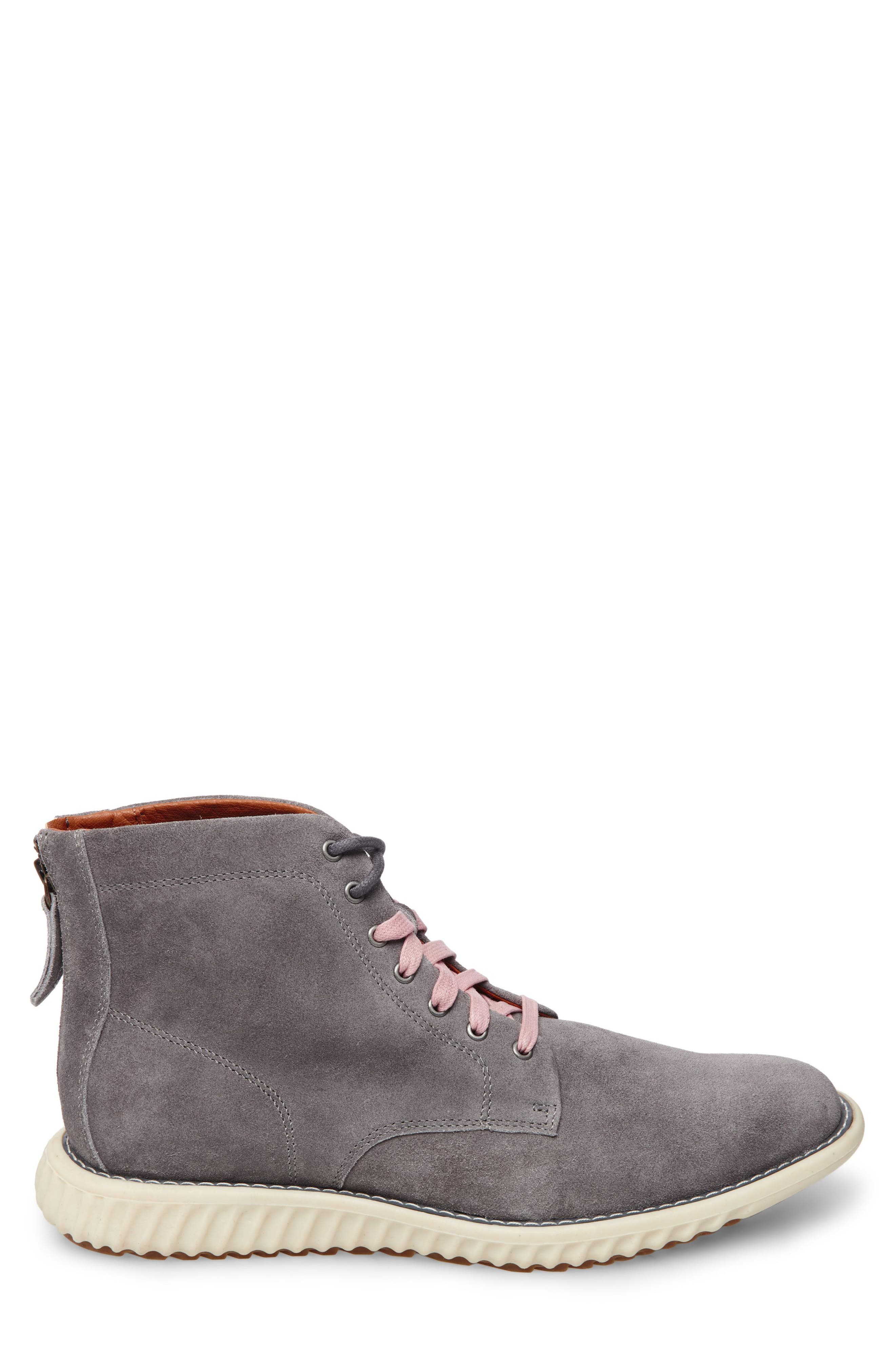 Verner Suede Plain Toe Boot,                             Alternate thumbnail 3, color,                             Dark Grey Suede