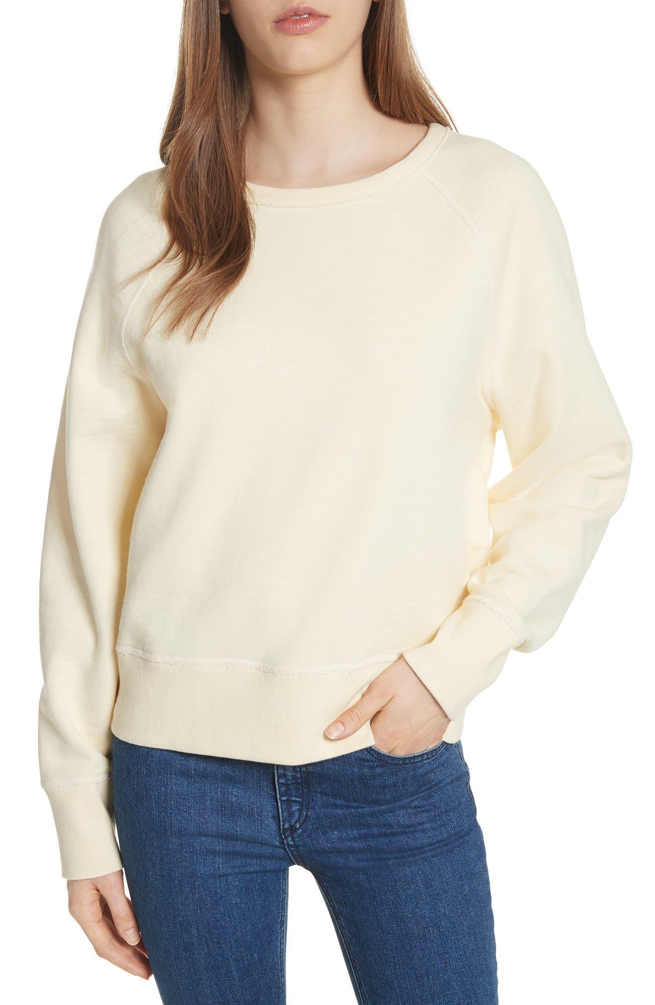 The Raglan Sweatshirt,                         Main,                         color, Pale Yellow