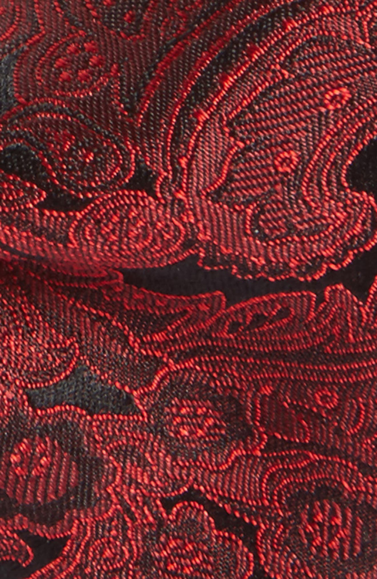 Paisley Silk Bow Tie,                             Alternate thumbnail 3, color,                             Red