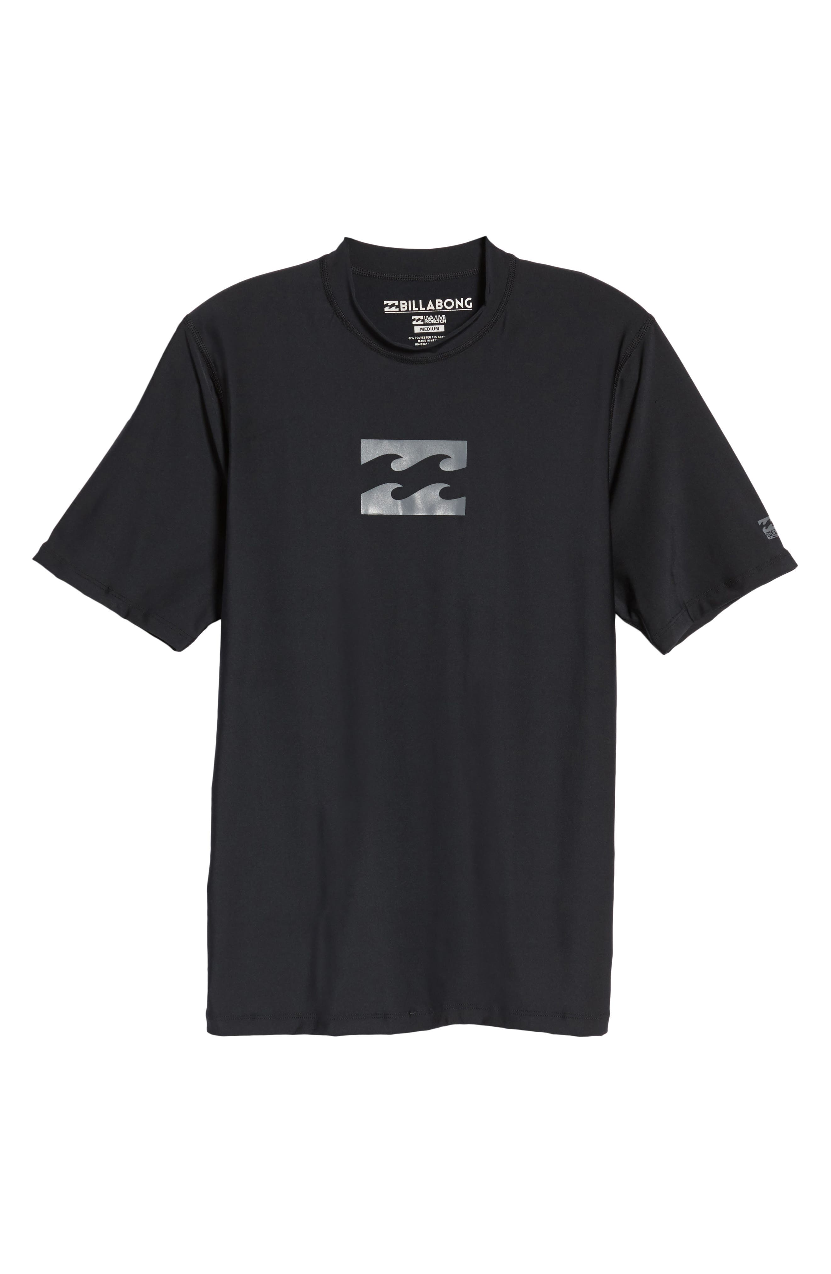 All Day Wave Wet Shirt,                             Alternate thumbnail 6, color,                             Black
