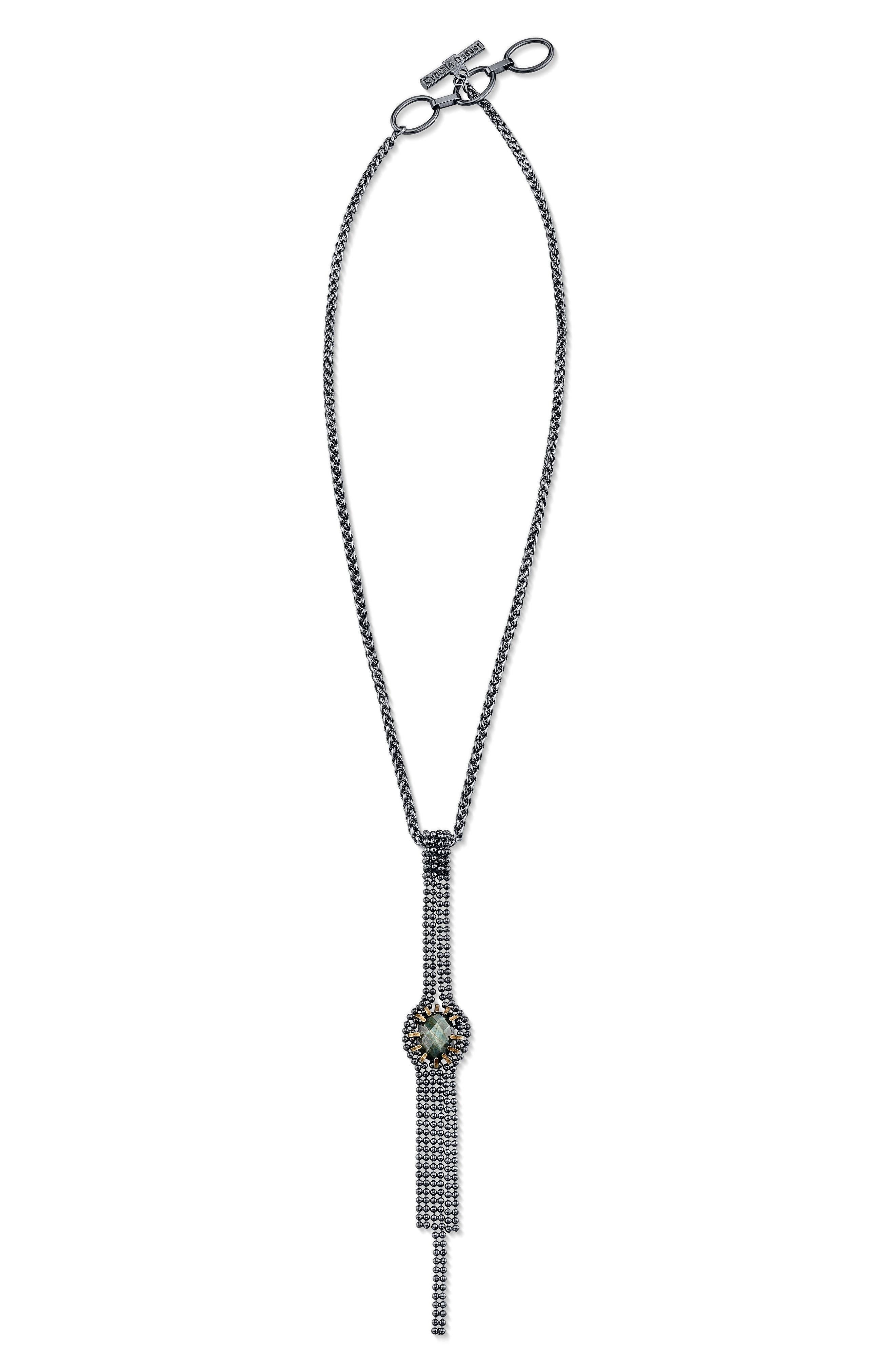 Alternate Image 2  - Cynthia Desser Labradorite Pendant Necklace