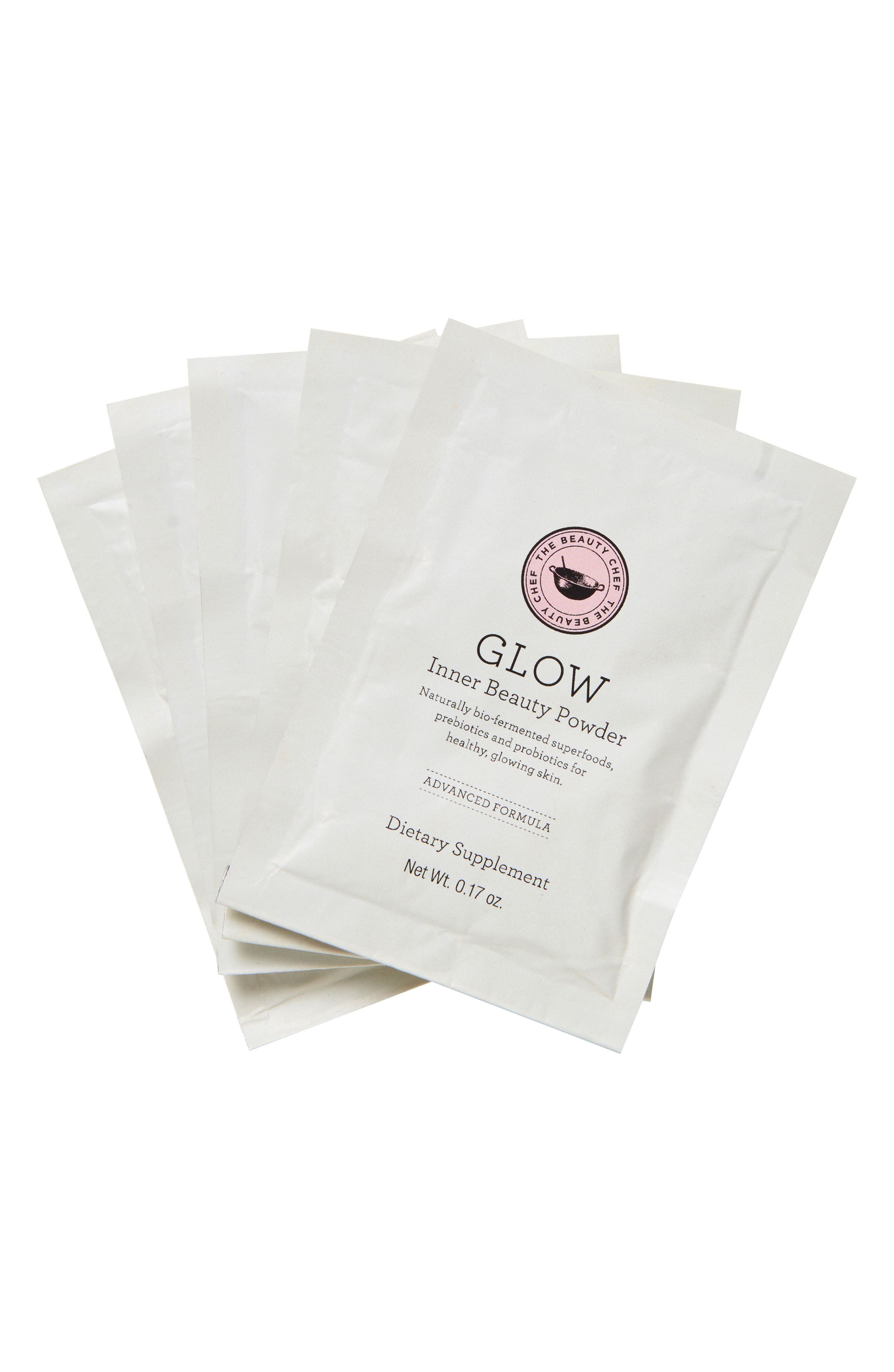 Glow Inner Beauty Powder Sachets,                         Main,                         color, No Color