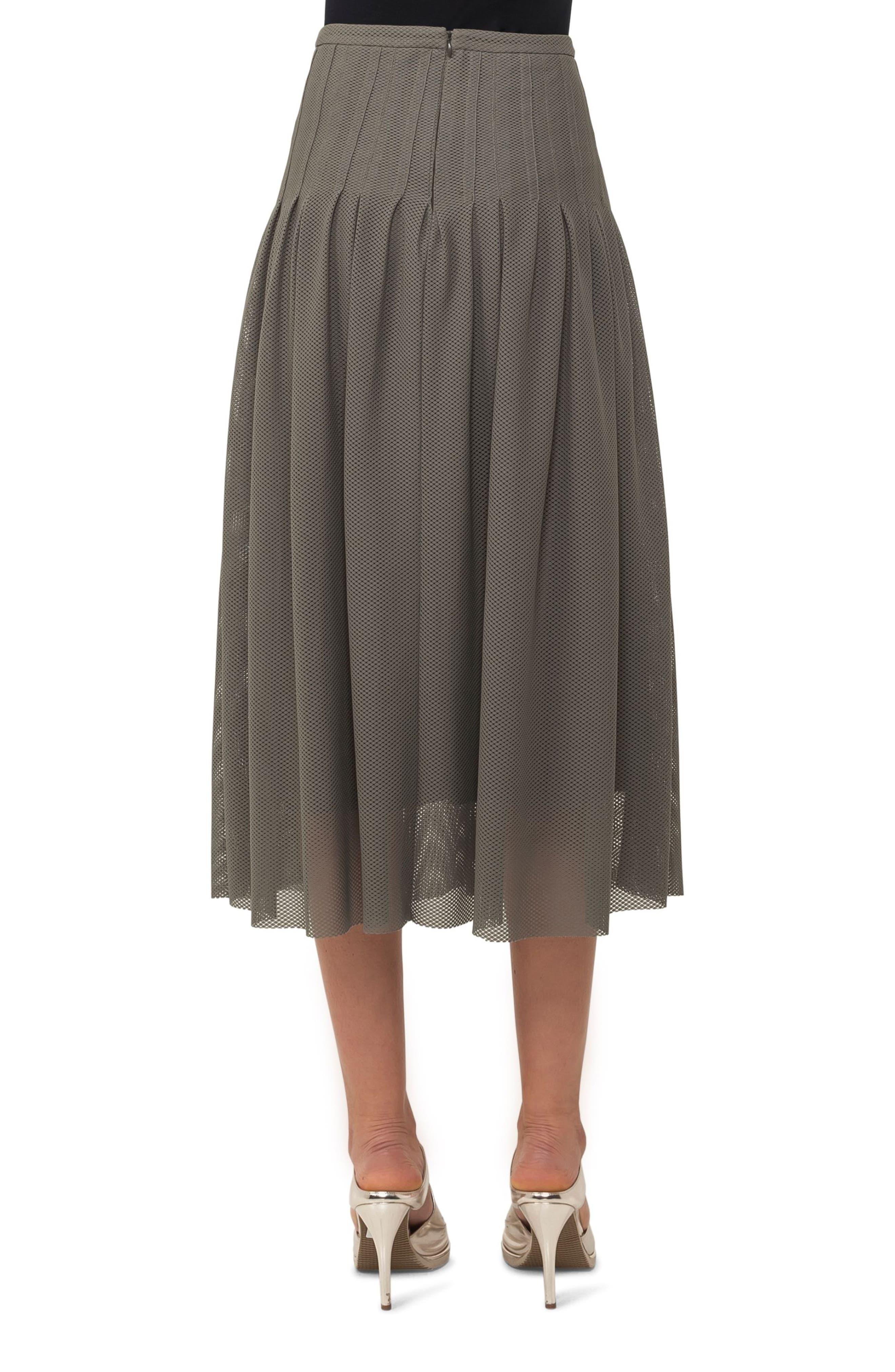 3D Lace Midi Skirt,                             Alternate thumbnail 2, color,                             Avocado