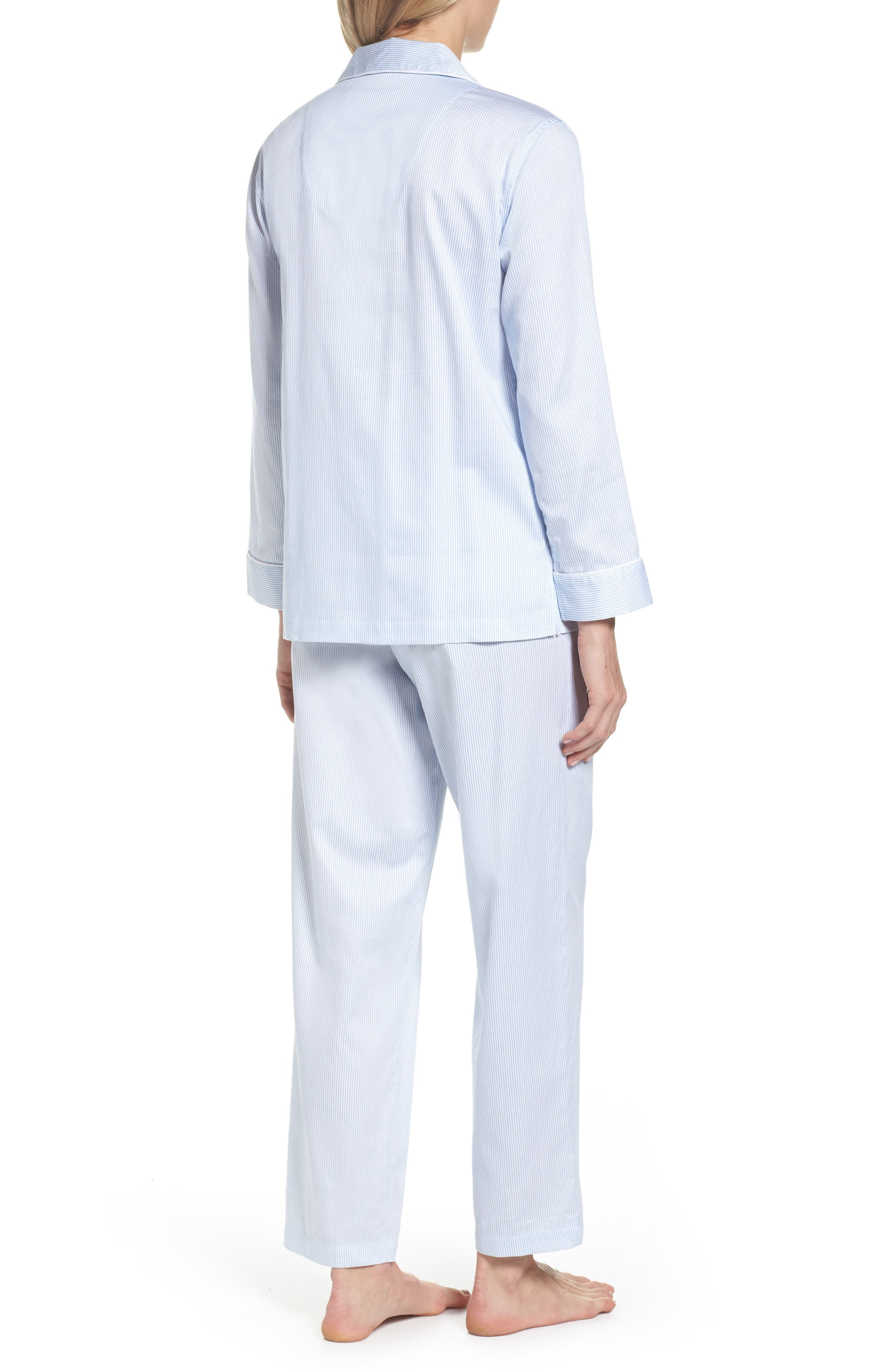 Alternate Image 2  - Lauren Ralph Lauren Stripe Sateen Pajamas